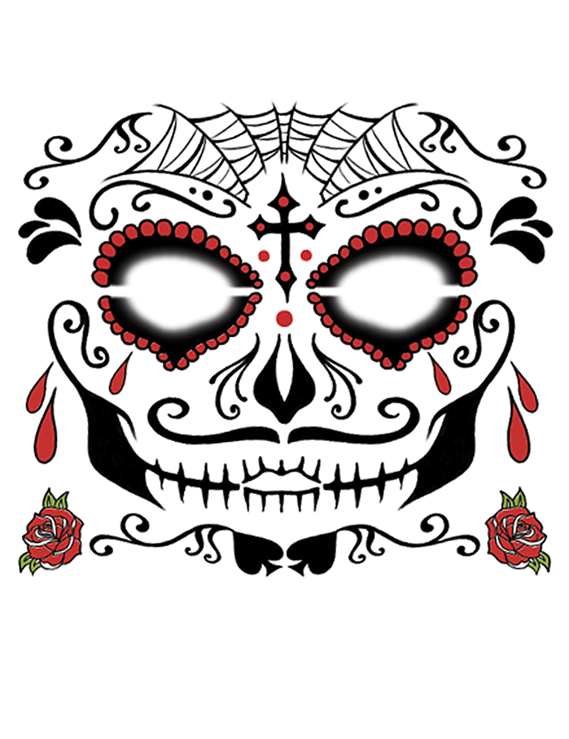tatouage eph mere visage dia de los muertos homme. Black Bedroom Furniture Sets. Home Design Ideas
