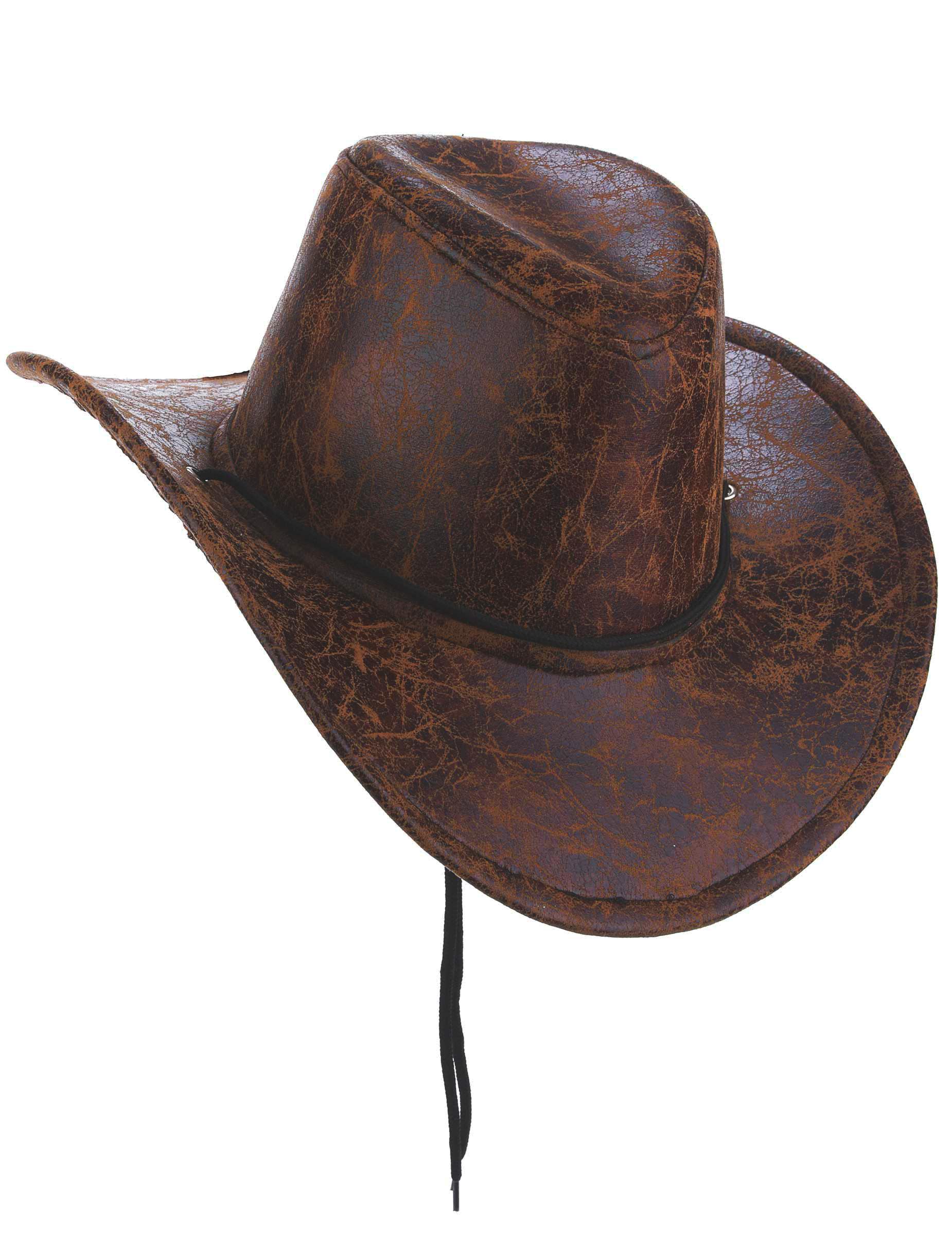 chapeau de cowboy marron imitation cuir adulte deguise toi achat de chapeaux. Black Bedroom Furniture Sets. Home Design Ideas