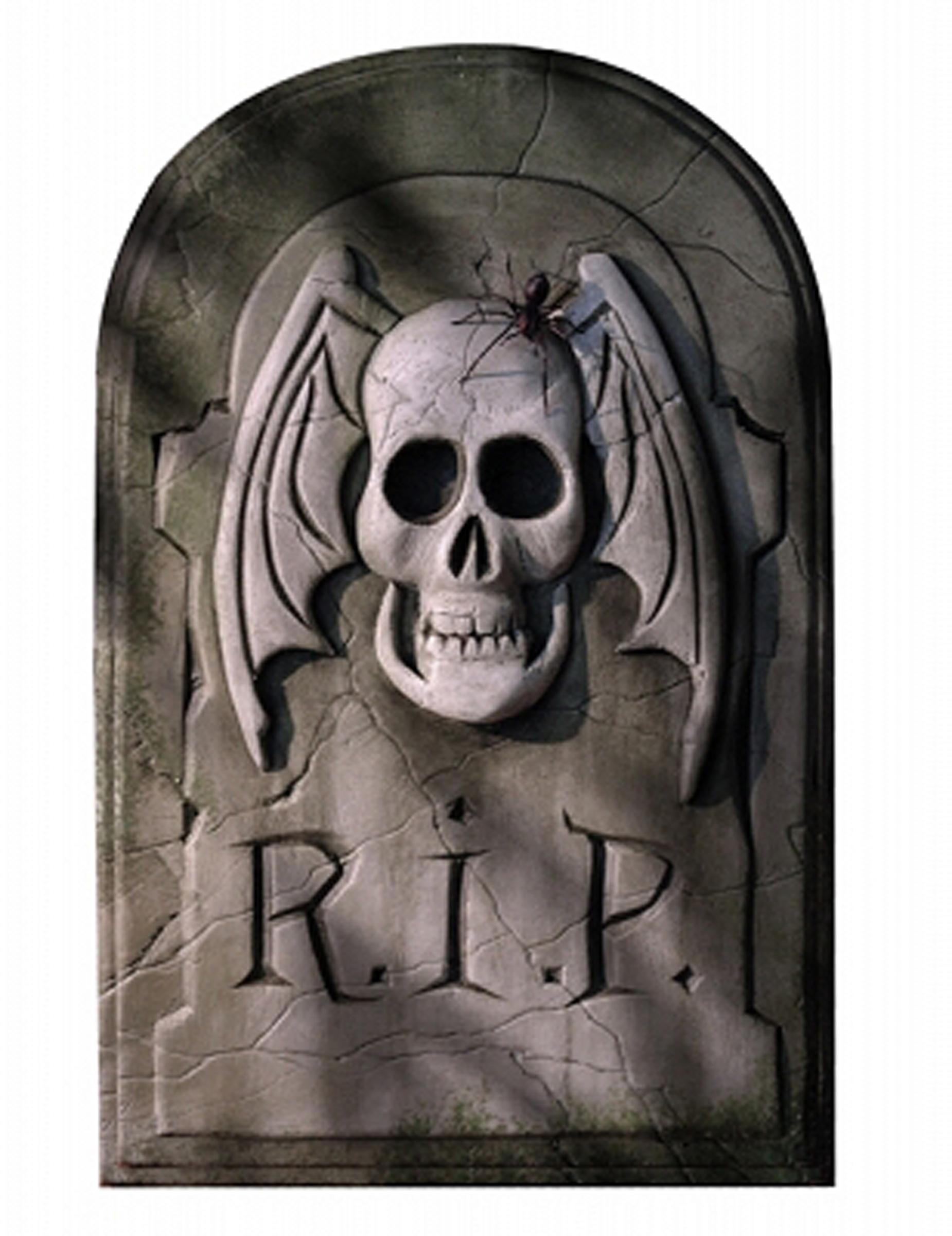 D coration cartonn e pierre tombale halloween 29 x 46 cm - Pierre tombale halloween ...