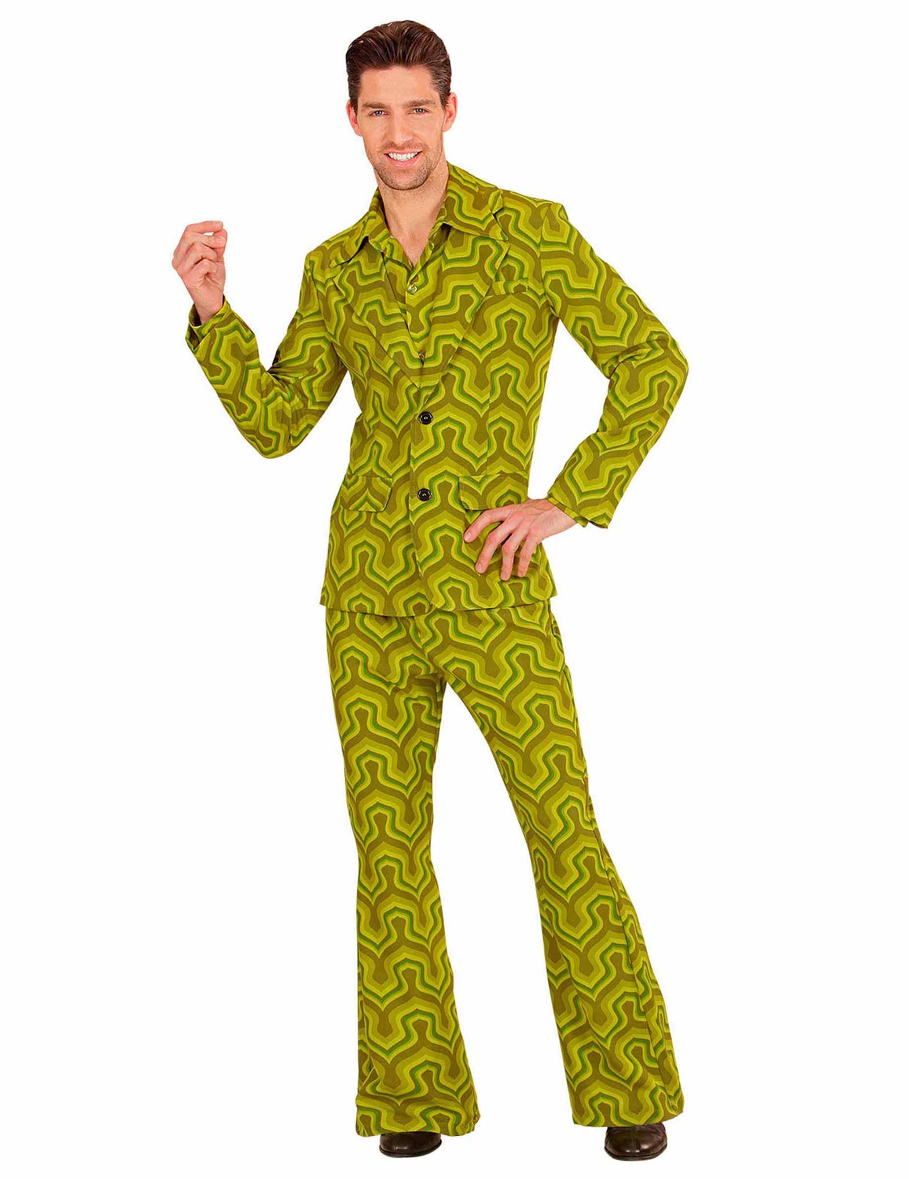D guisement groovy vert ann es 70 homme deguise toi achat de d guisements adultes - Annee 70 homme ...