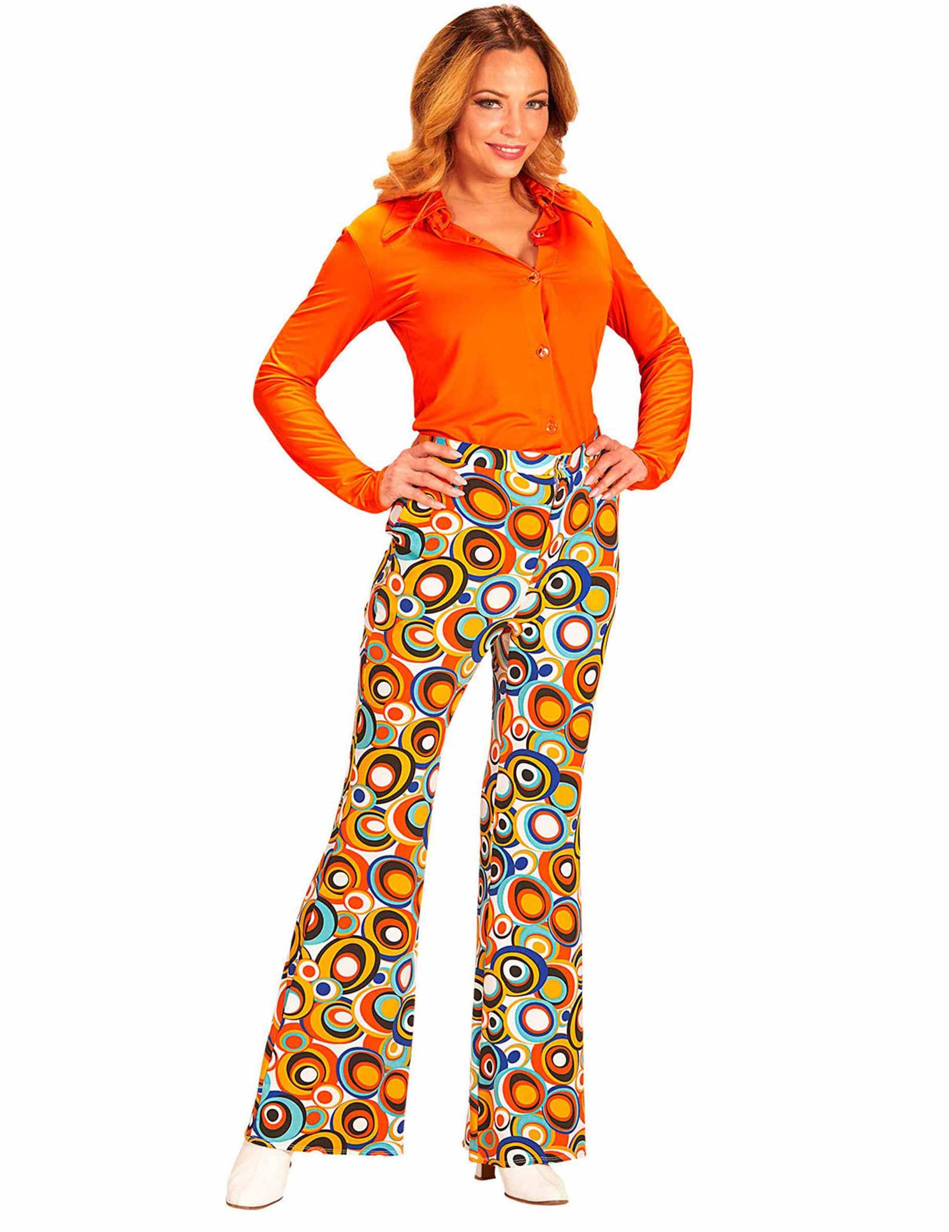 pantalon groovy bubbles ann es 70 femme deguise toi achat de d guisements adultes. Black Bedroom Furniture Sets. Home Design Ideas