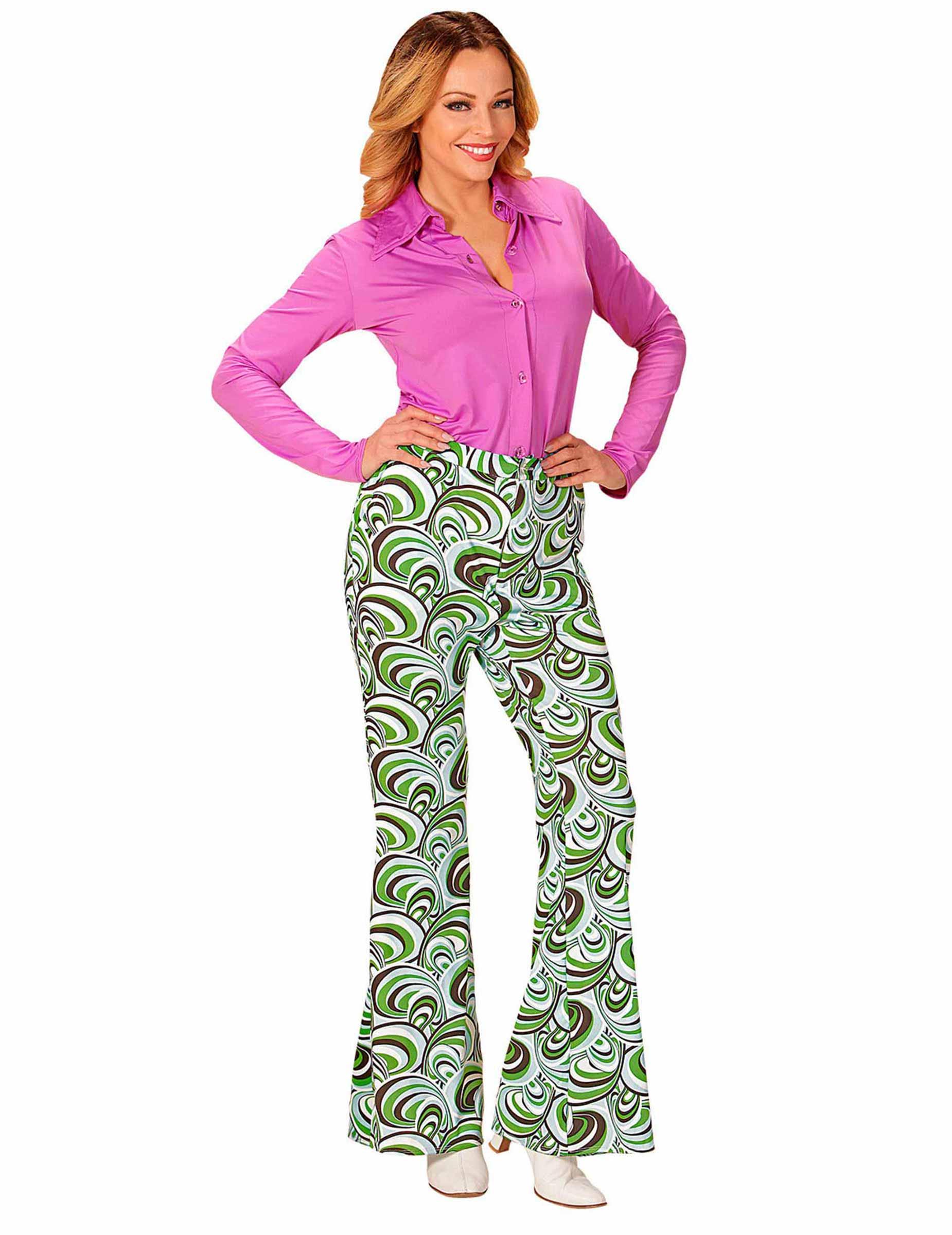 pantalon groovy waves ann es 70 femme deguise toi achat de d guisements adultes. Black Bedroom Furniture Sets. Home Design Ideas