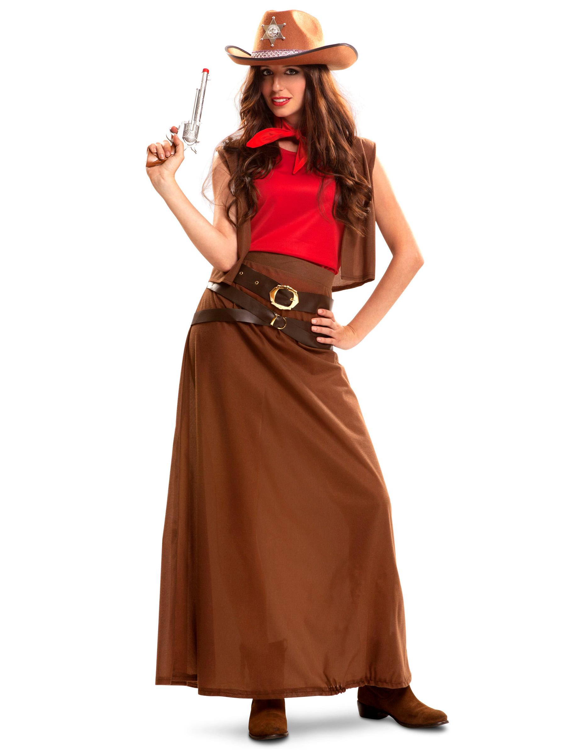 d guisement cowgirl robe longue femme deguise toi achat de d guisements adultes. Black Bedroom Furniture Sets. Home Design Ideas