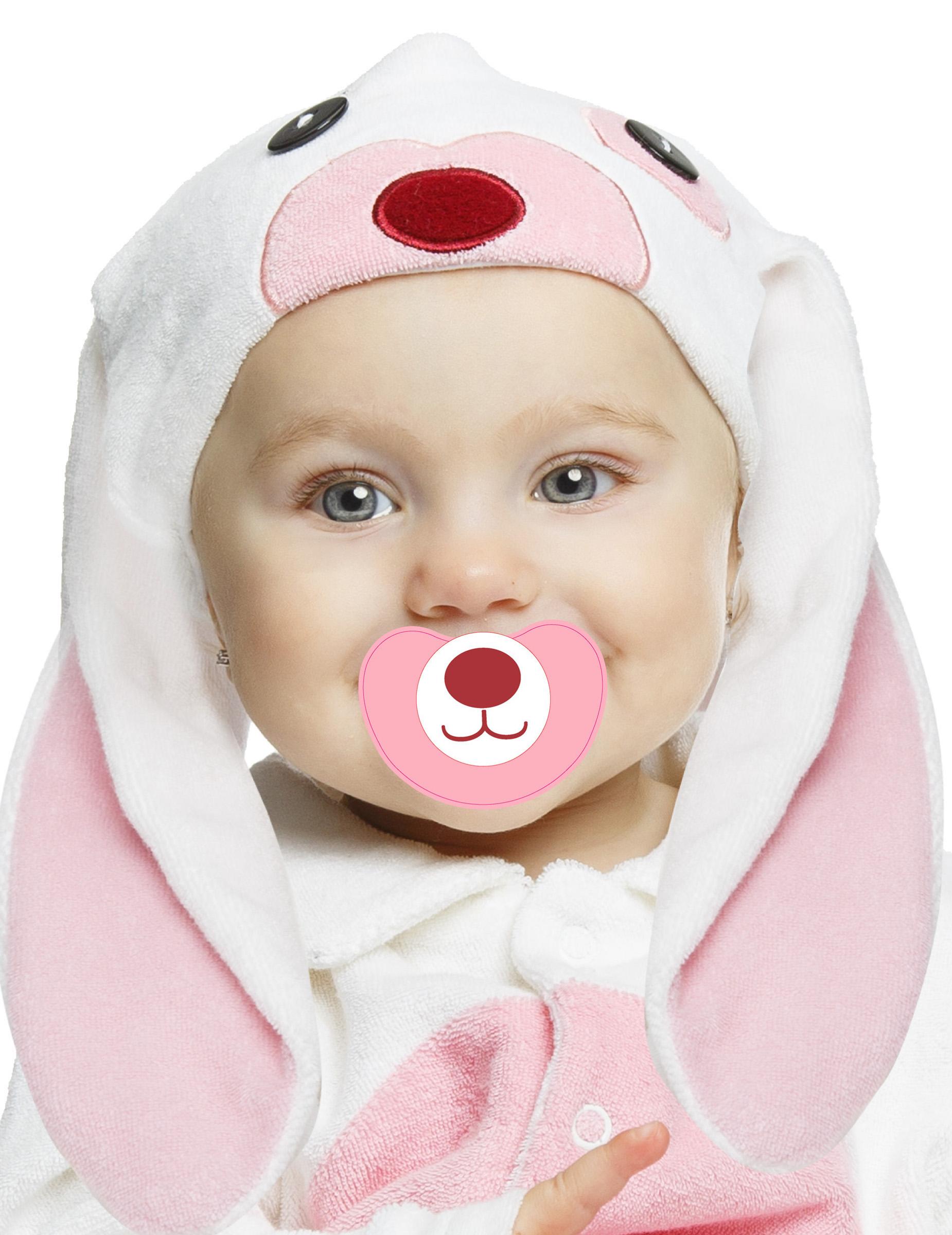 Déguisement petit lapin rose avec sucette luxe bébé  Deguise,toi, achat de  Déguisements enfants