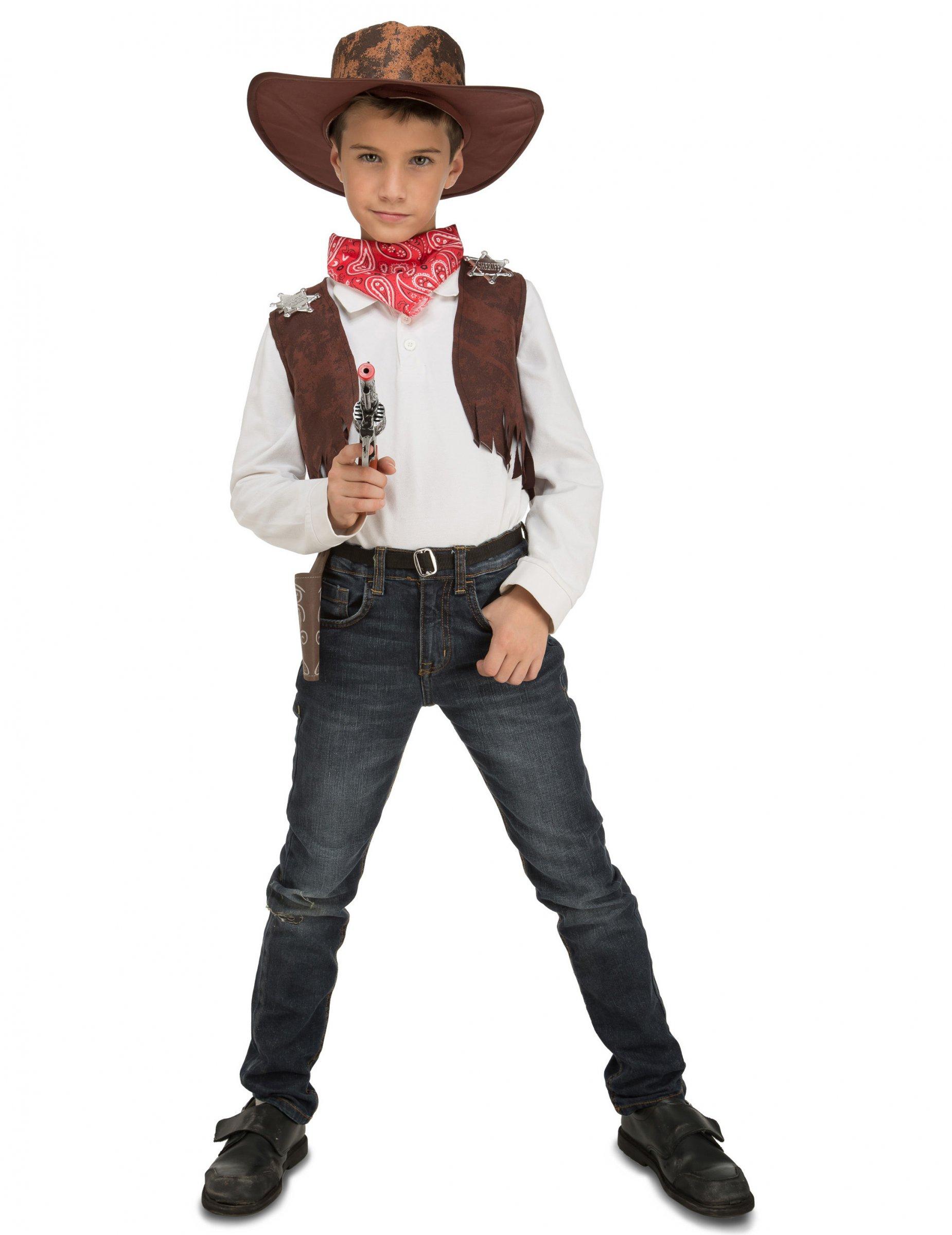 d guisement cowboy avec accessoires enfant deguise toi achat de d guisements enfants. Black Bedroom Furniture Sets. Home Design Ideas