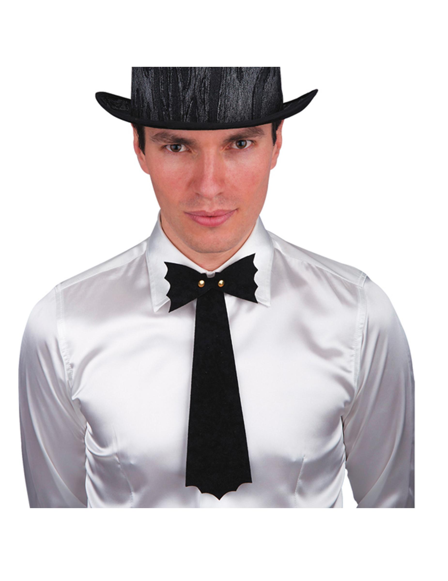 Cravate noire chauve souris halloween homme deguise toi - Cravate noire homme ...