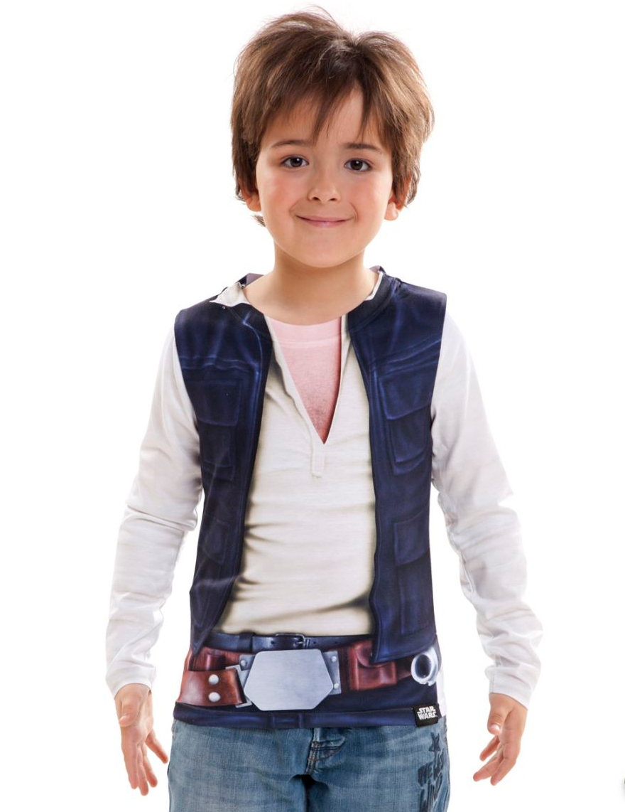 t shirt han solo star wars enfant deguise toi achat de d guisements enfants. Black Bedroom Furniture Sets. Home Design Ideas