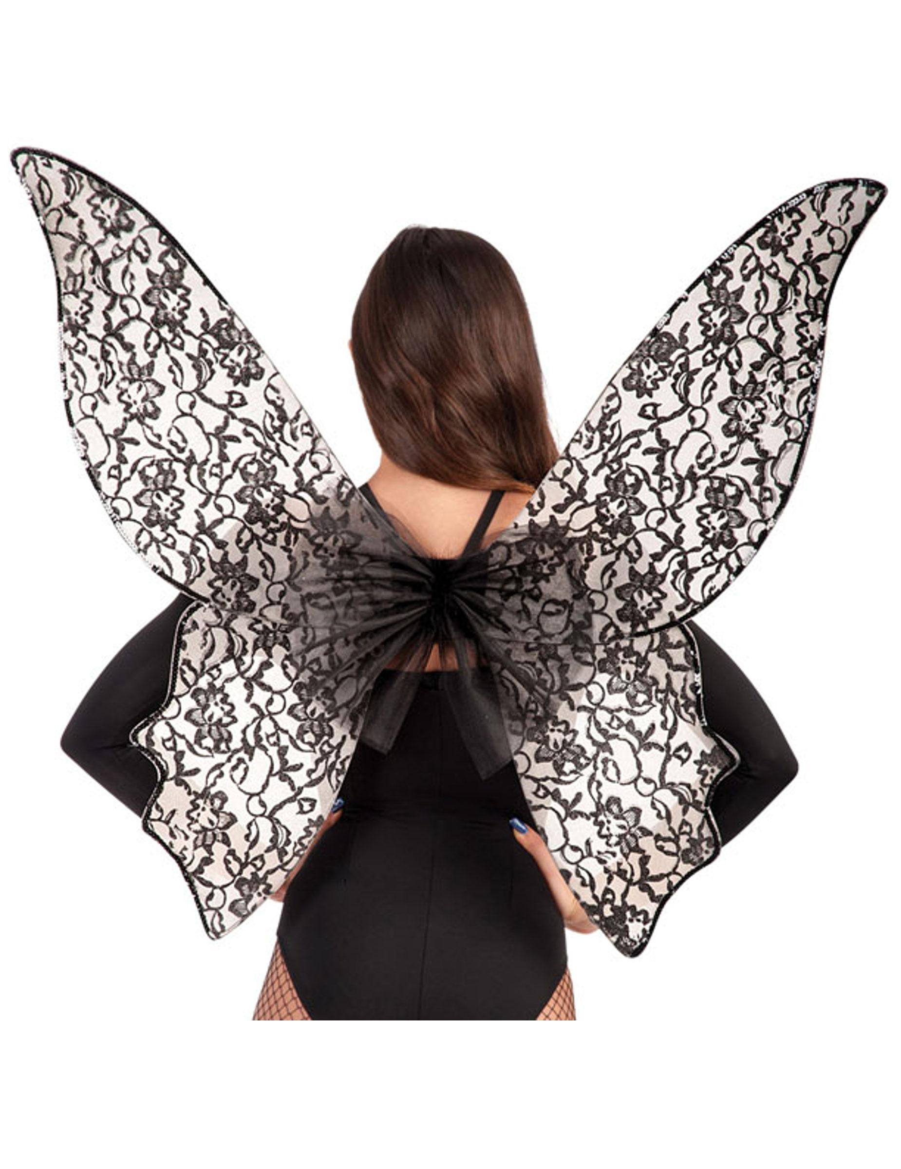 Aile De Papillon grandes ailes papillon noir femme : deguise-toi, achat de accessoires