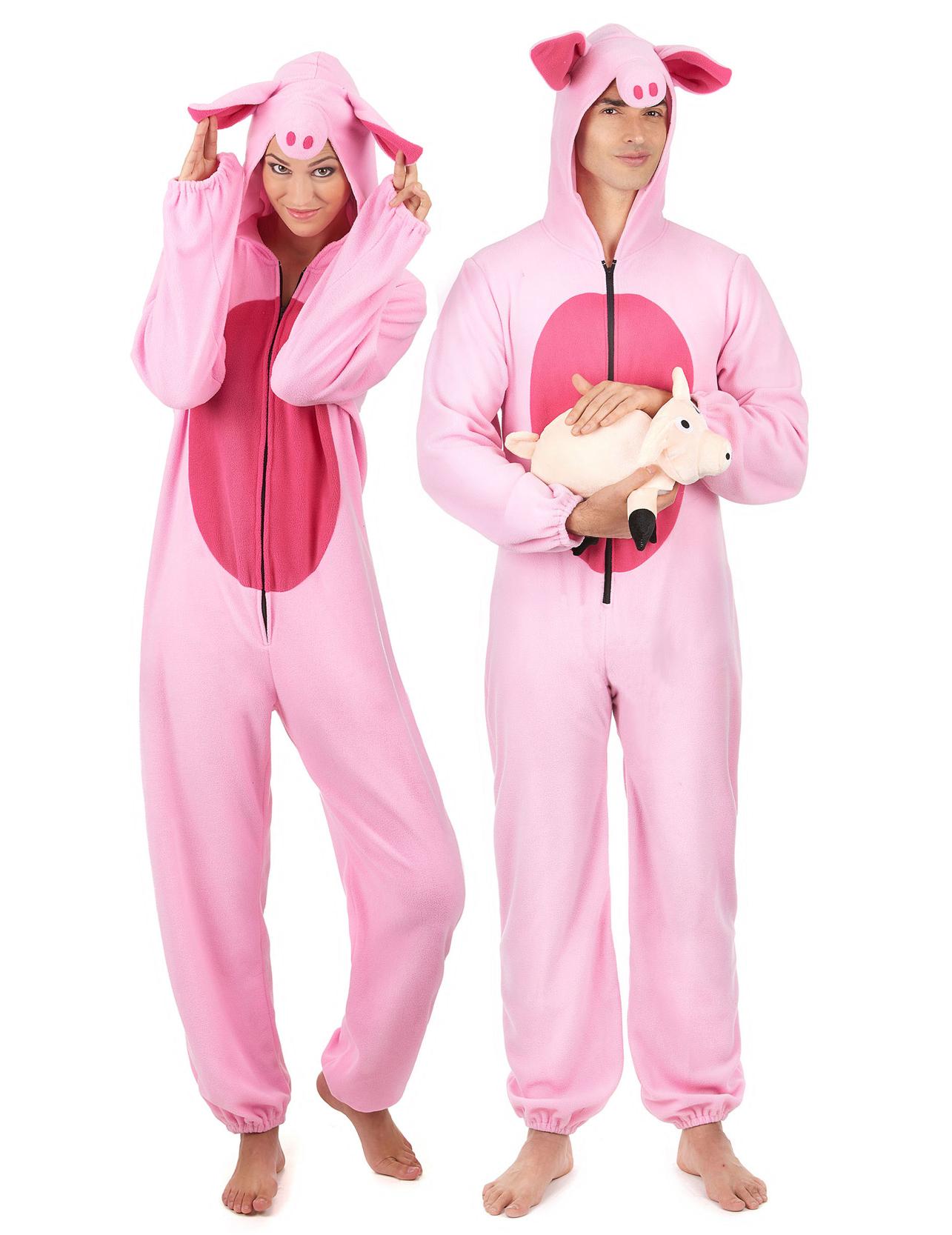 Déguisement de couple cochon rose adulte   Deguise-toi, achat de ... 60536e664833