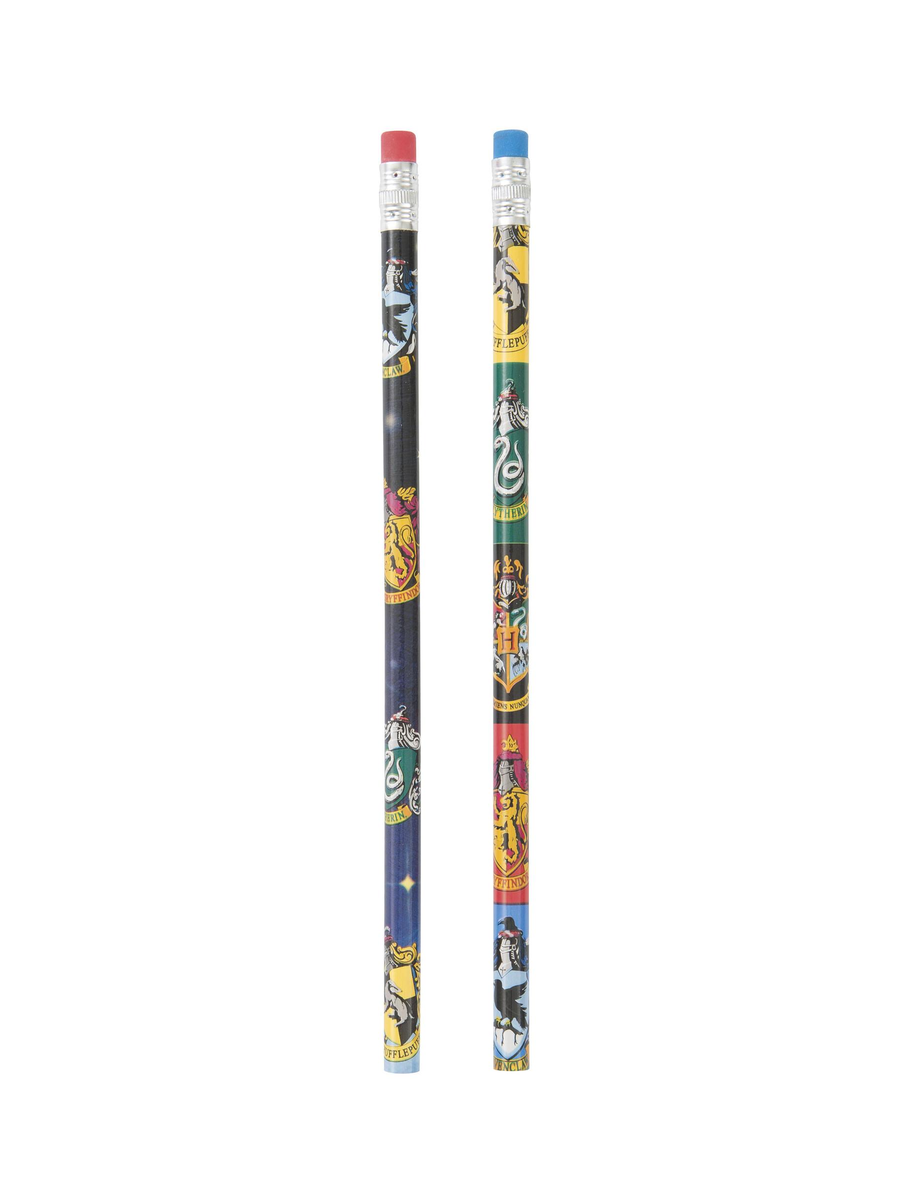Crayons /à Papier Lot de 4 Crayons /& 4 Gommes Chevaliers /& Magiciens