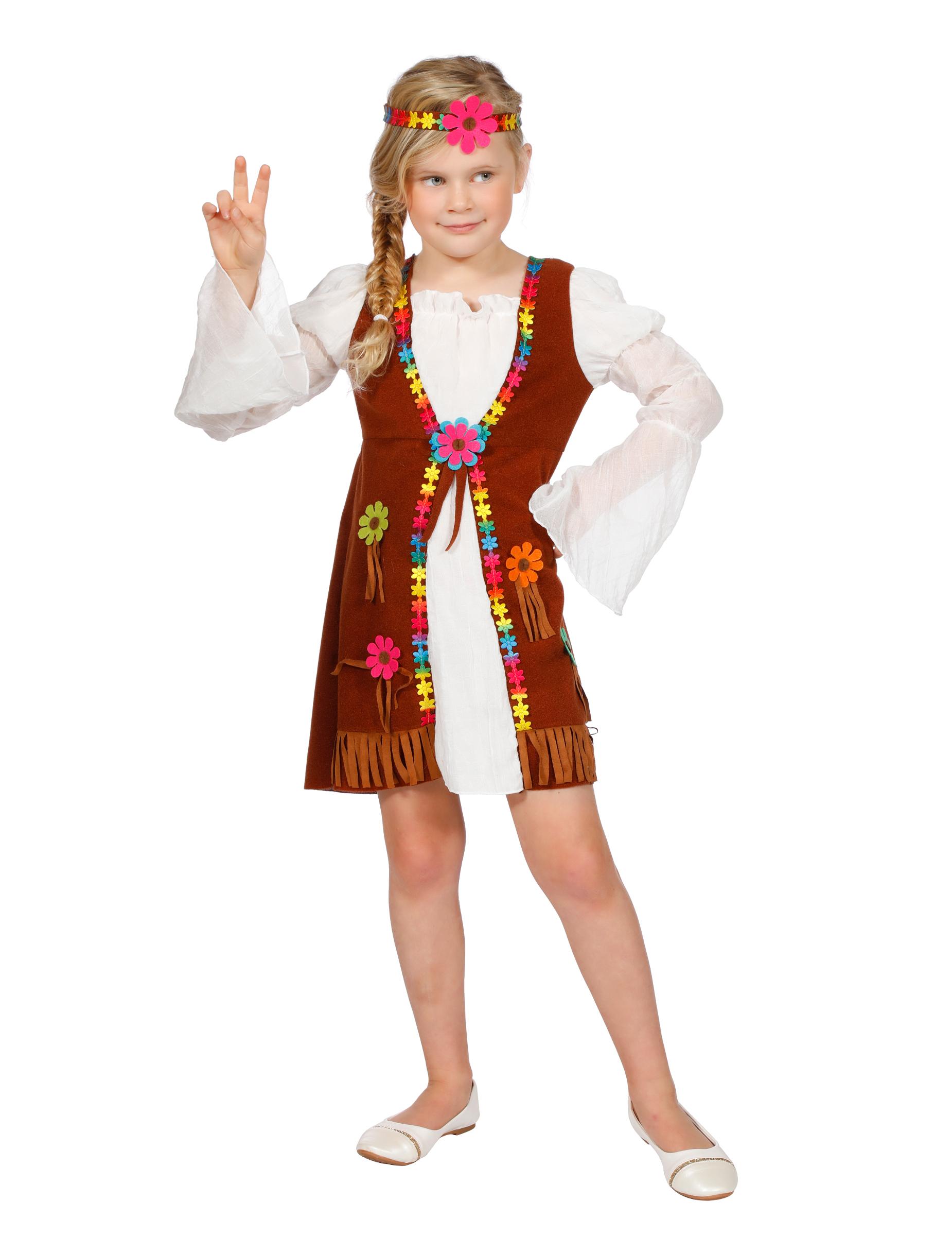 d9c39978e292b7 Déguisement miss hippie blanche fille