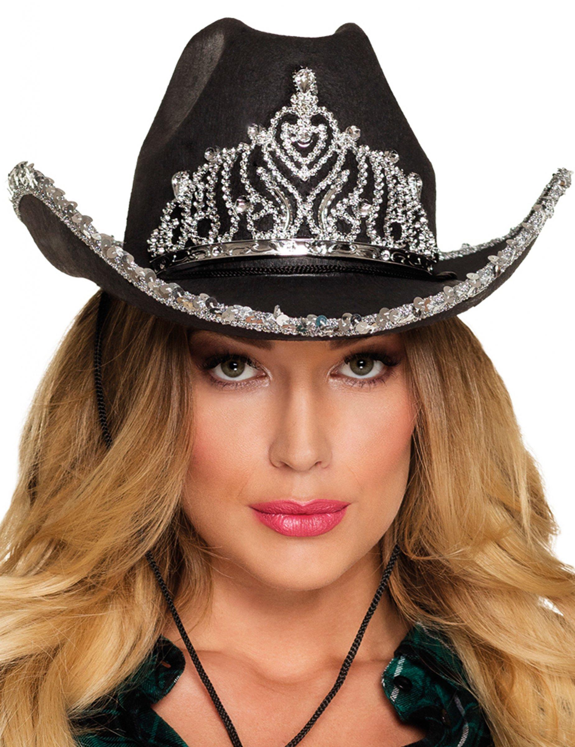 chapeau princesse cowboy noir femme deguise toi achat de chapeaux. Black Bedroom Furniture Sets. Home Design Ideas
