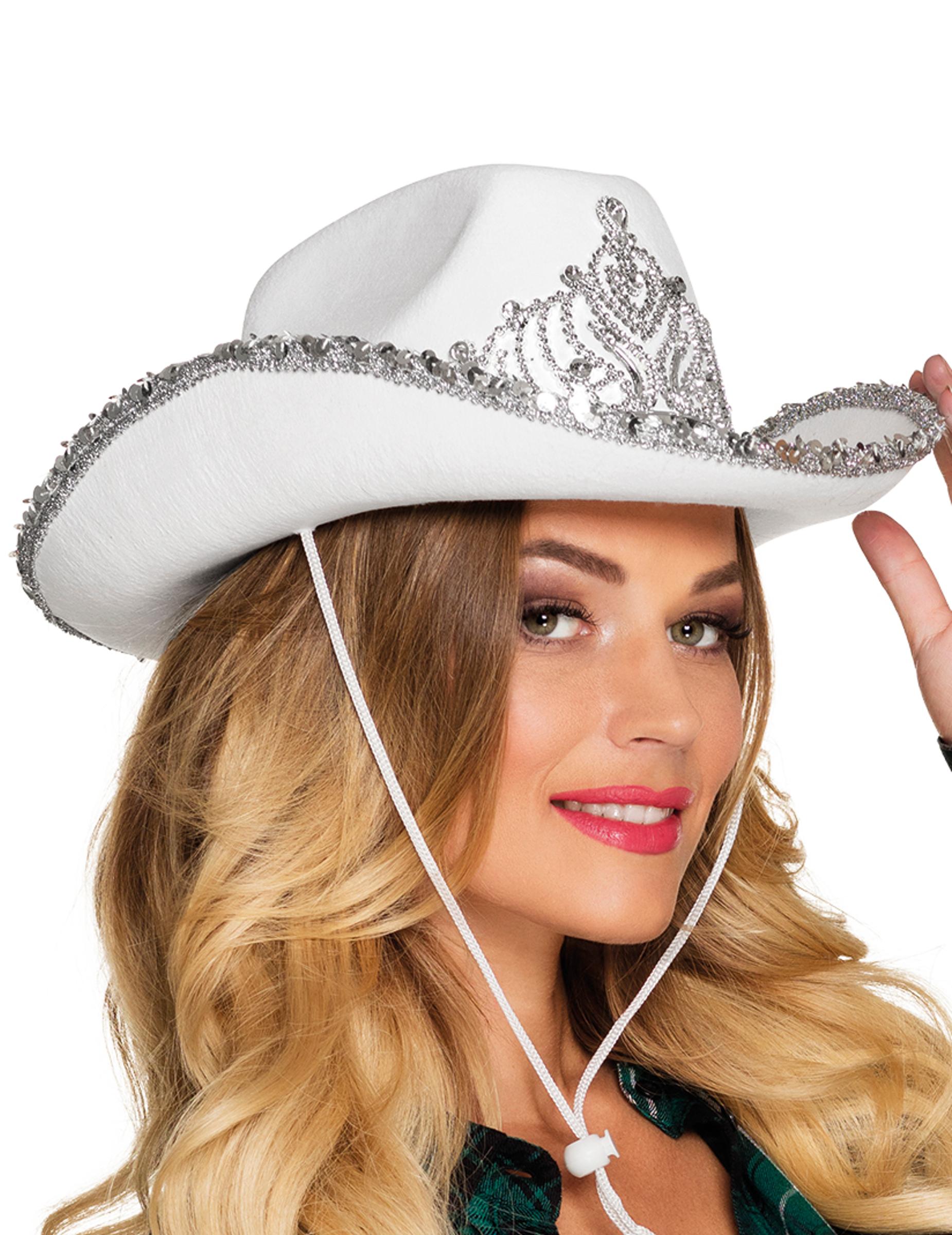 chapeau princesse cowboy blanc femme deguise toi achat de chapeaux. Black Bedroom Furniture Sets. Home Design Ideas