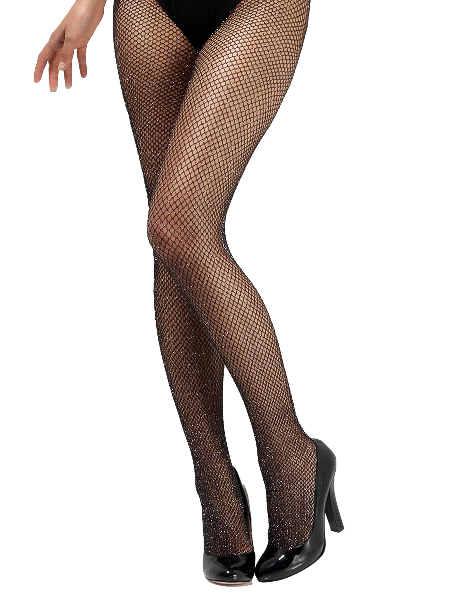 Collants résille noire avec paillettes femme   Deguise-toi c80b843acf8