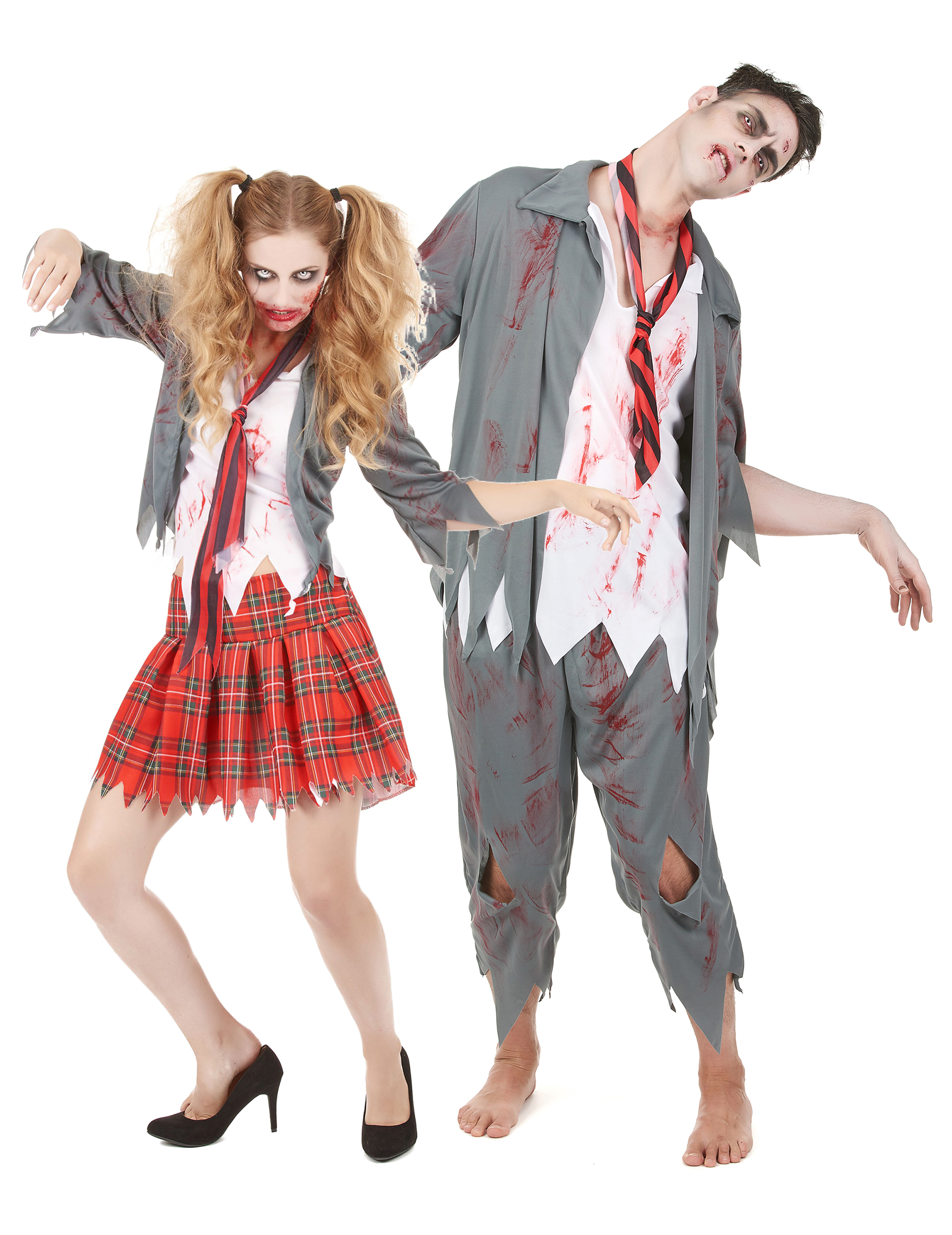 D guisement de couple zombie halloween deguise toi achat de d guisements couples - Deguisement couple halloween ...