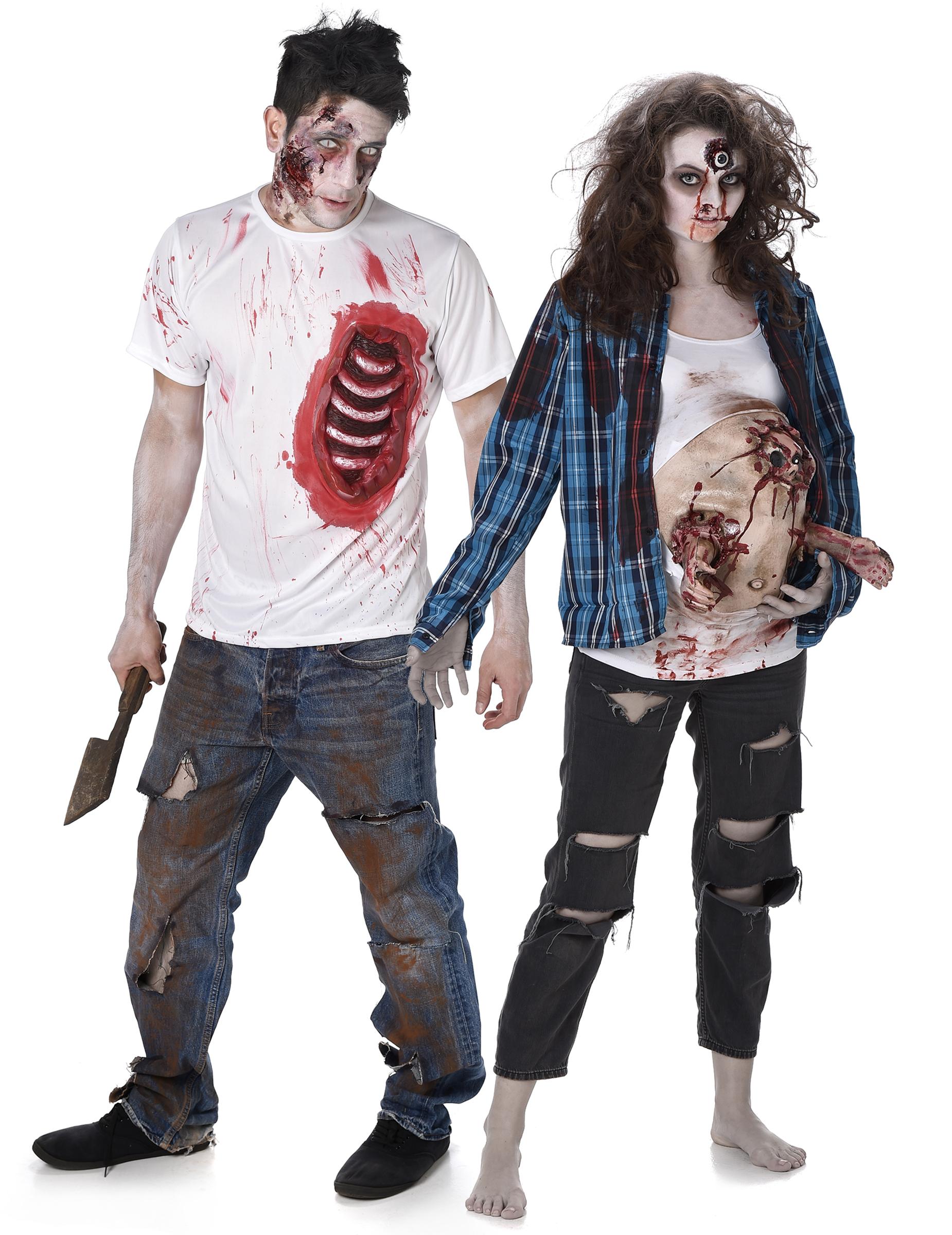 d guisement de couple zombie trash halloween deguise toi achat de d guisements couples. Black Bedroom Furniture Sets. Home Design Ideas