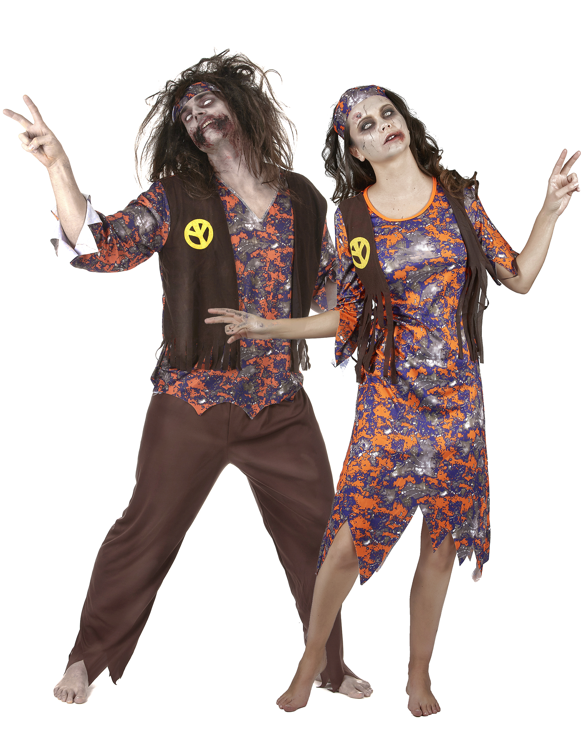 D guisement de couple hippie zombie halloween deguise toi achat de d guisements couples - Deguisement couple halloween ...