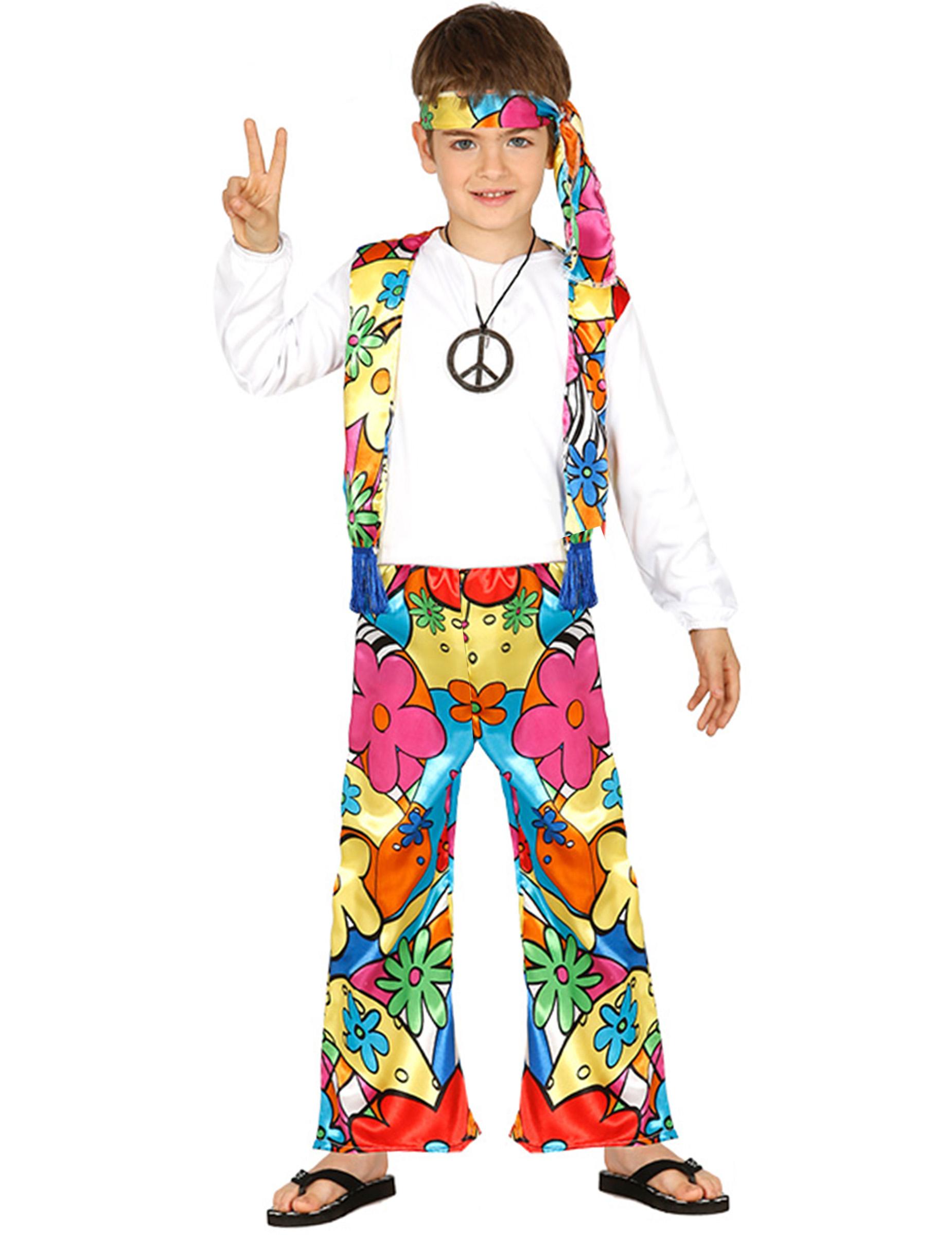 Déguisement hippie à grosses fleurs enfant   Deguise-toi, achat de ... d30babbb4fa4