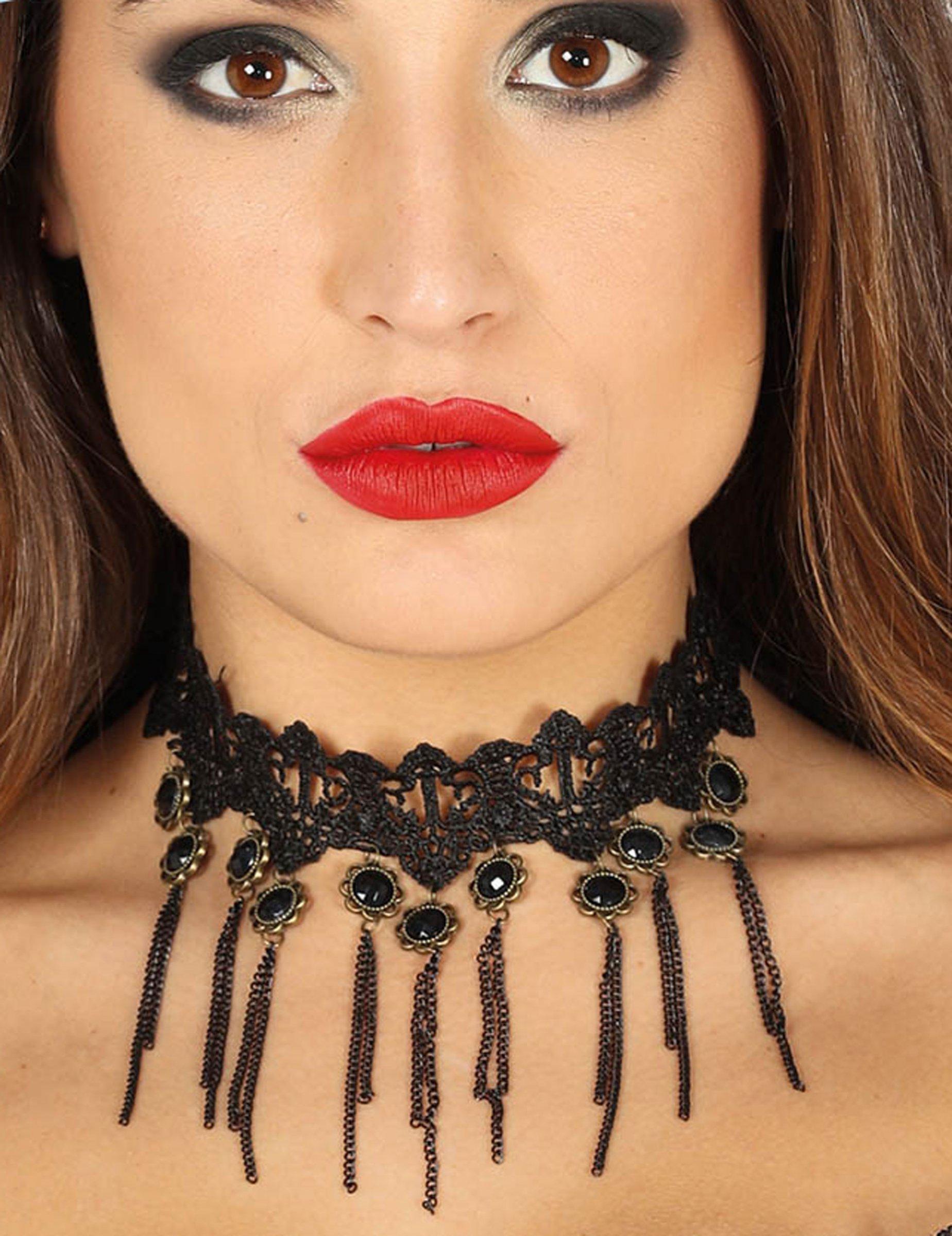 Ras de cou gothique noir sexy femme   Deguise-toi, achat de Accessoires d6f512e1f502