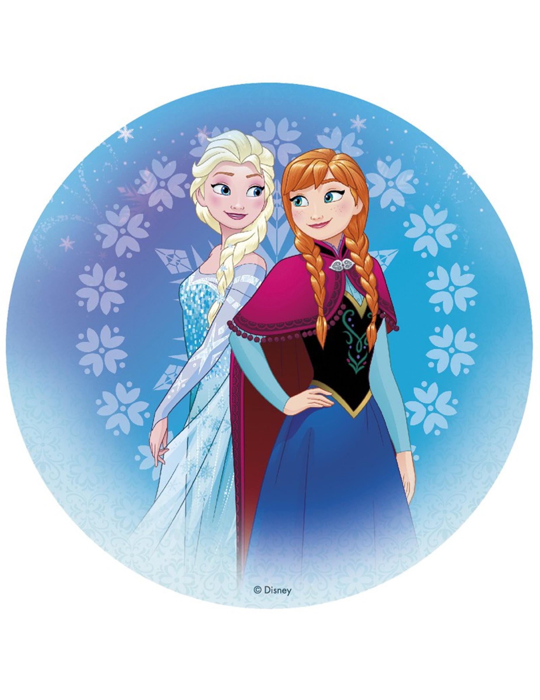 Disque azyme la reine des neiges 20 cm deguise toi - Ren des neige ...