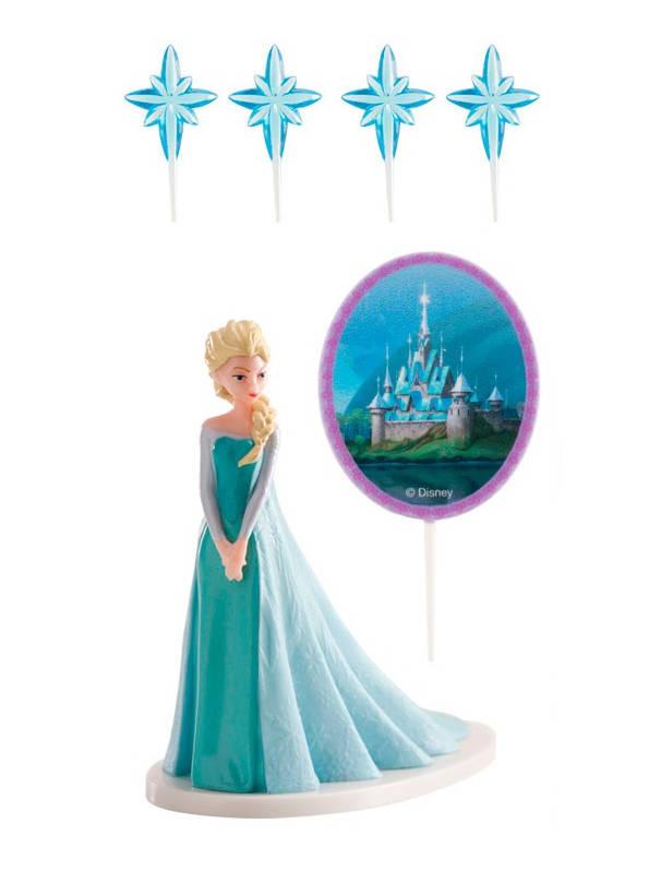 kit de d corations g teaux la reine des neiges elsa deguise toi achat de decoration. Black Bedroom Furniture Sets. Home Design Ideas
