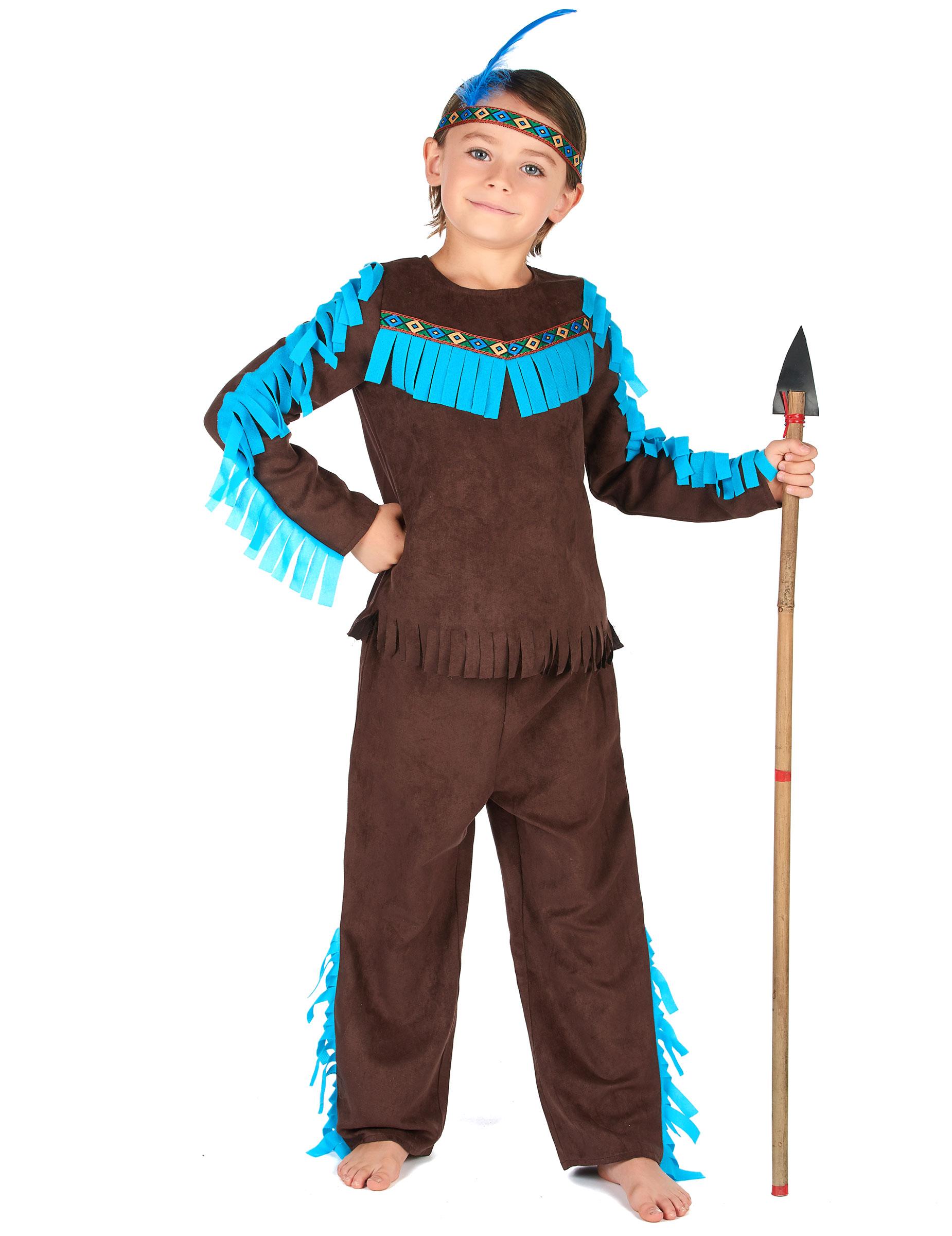 d guisement indien marron gar on deguise toi achat de d guisements enfants. Black Bedroom Furniture Sets. Home Design Ideas