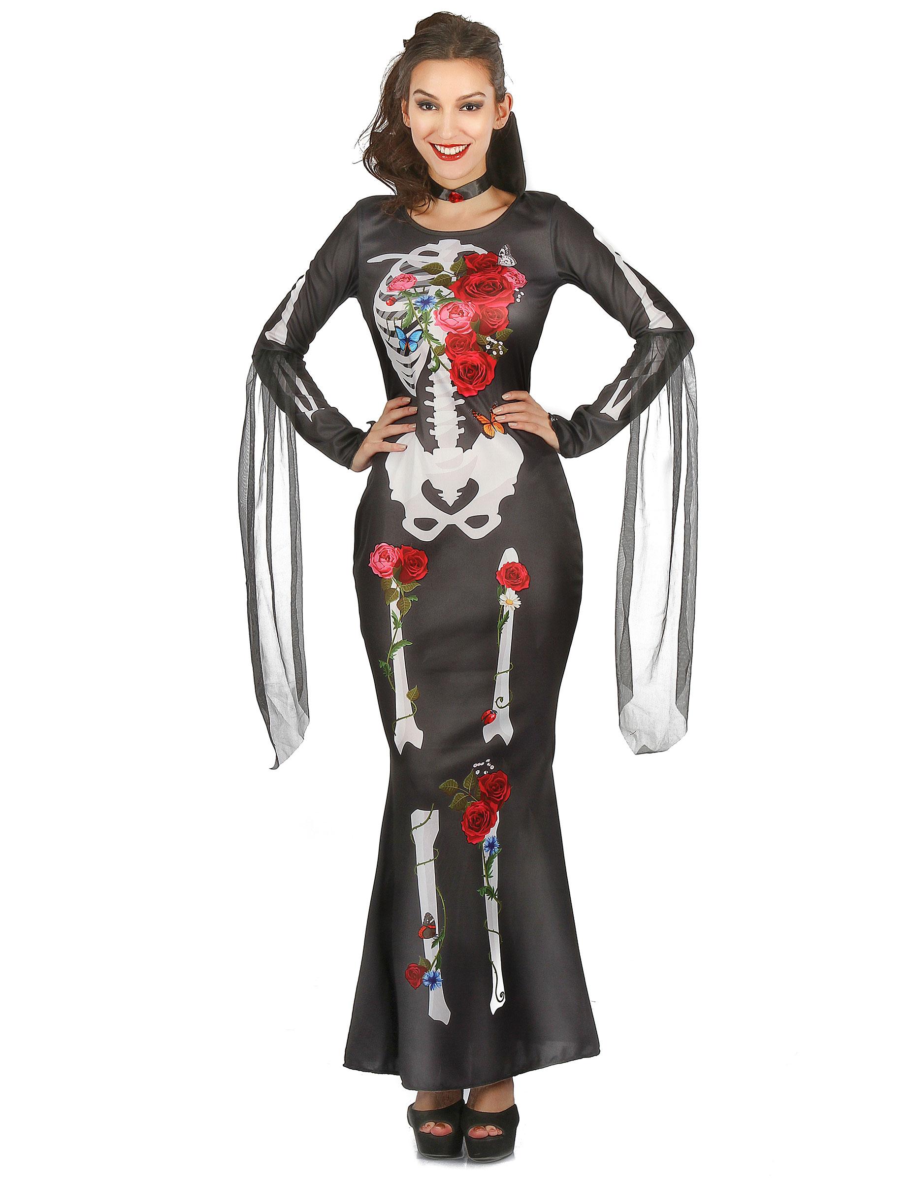 d guisement robe squelette femme dia de los muertos deguise toi achat de d guisements adultes. Black Bedroom Furniture Sets. Home Design Ideas