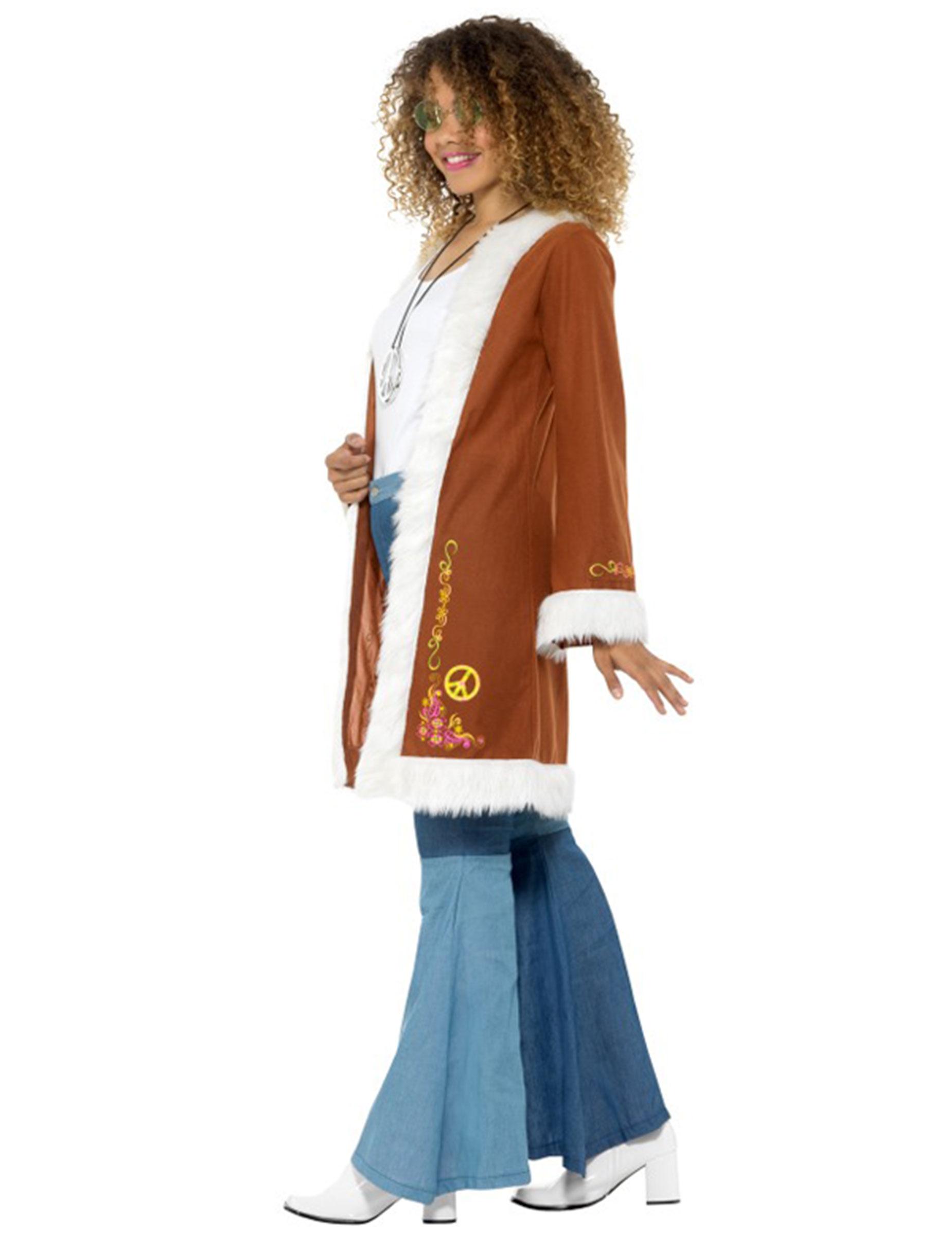 Toi Femme Hippie Avec Fourrure Achat Manteau De Deguise R4HFw