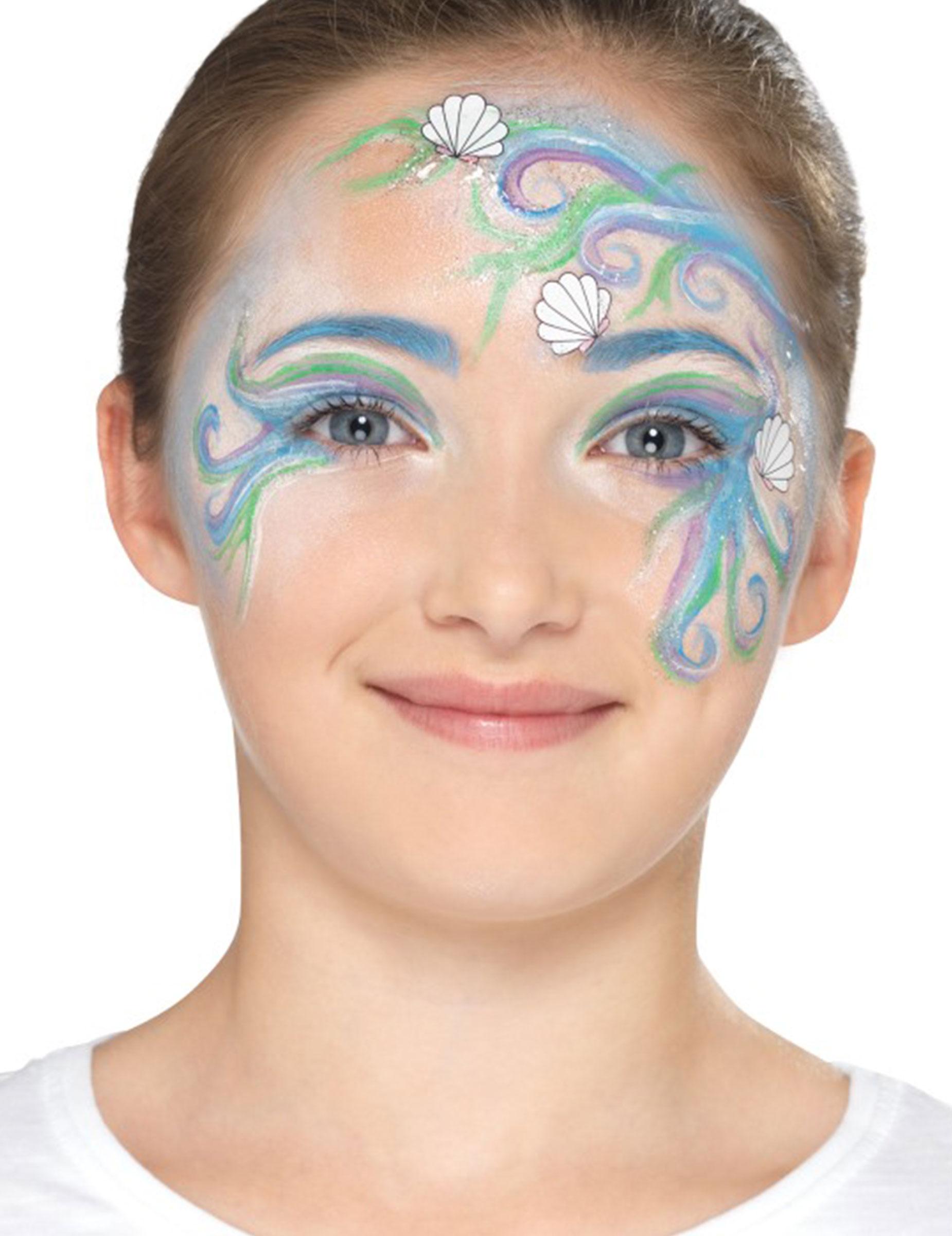 Kit maquillage sirène des mers enfant,4