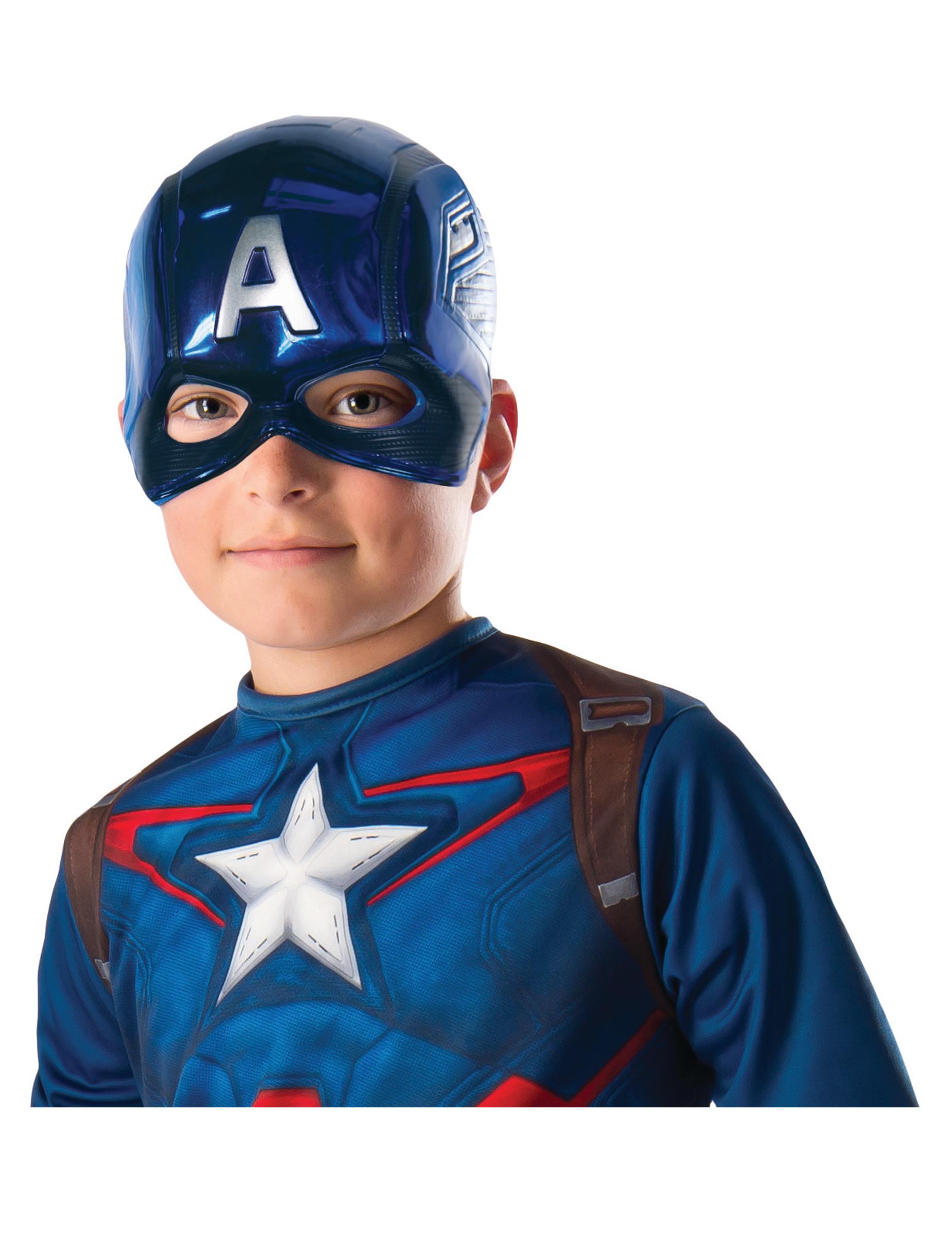 Demi masque pvc captain america enfant deguise toi achat de masques - Masque de captain america ...