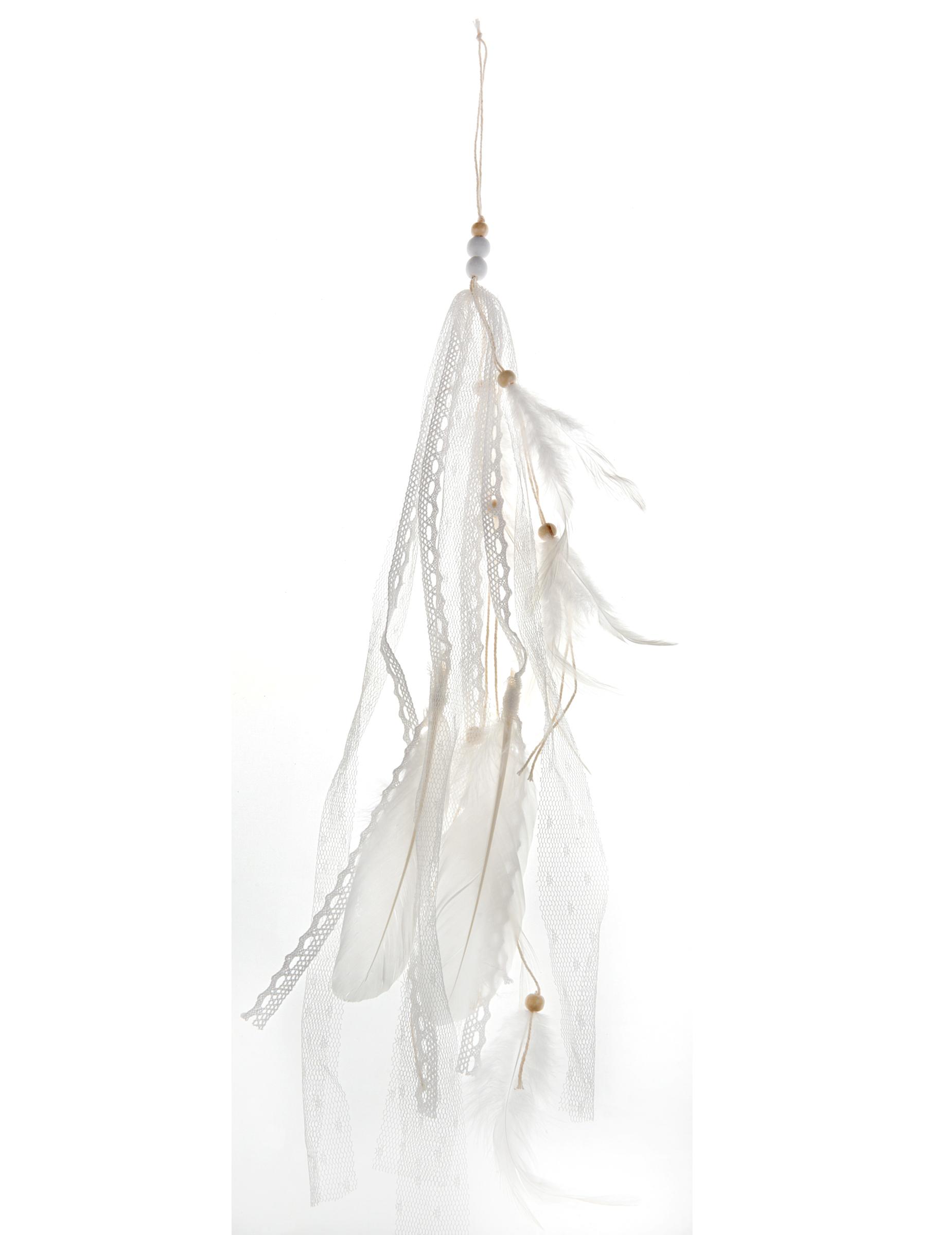 Boule De Plume A Suspendre suspension plume blanche 35 cm