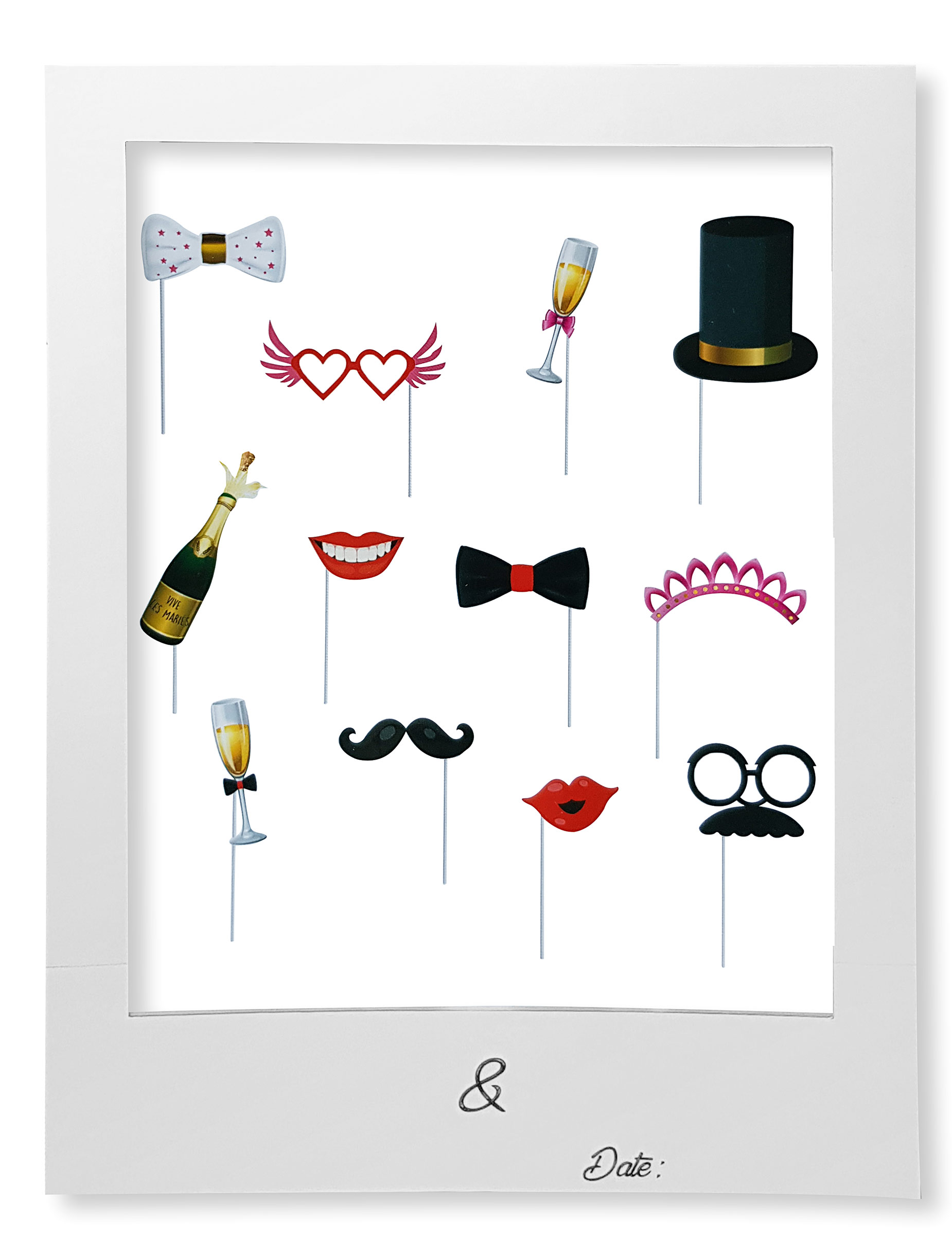 kit photobooth mariage avec cadre deguise toi achat de decoration animation. Black Bedroom Furniture Sets. Home Design Ideas