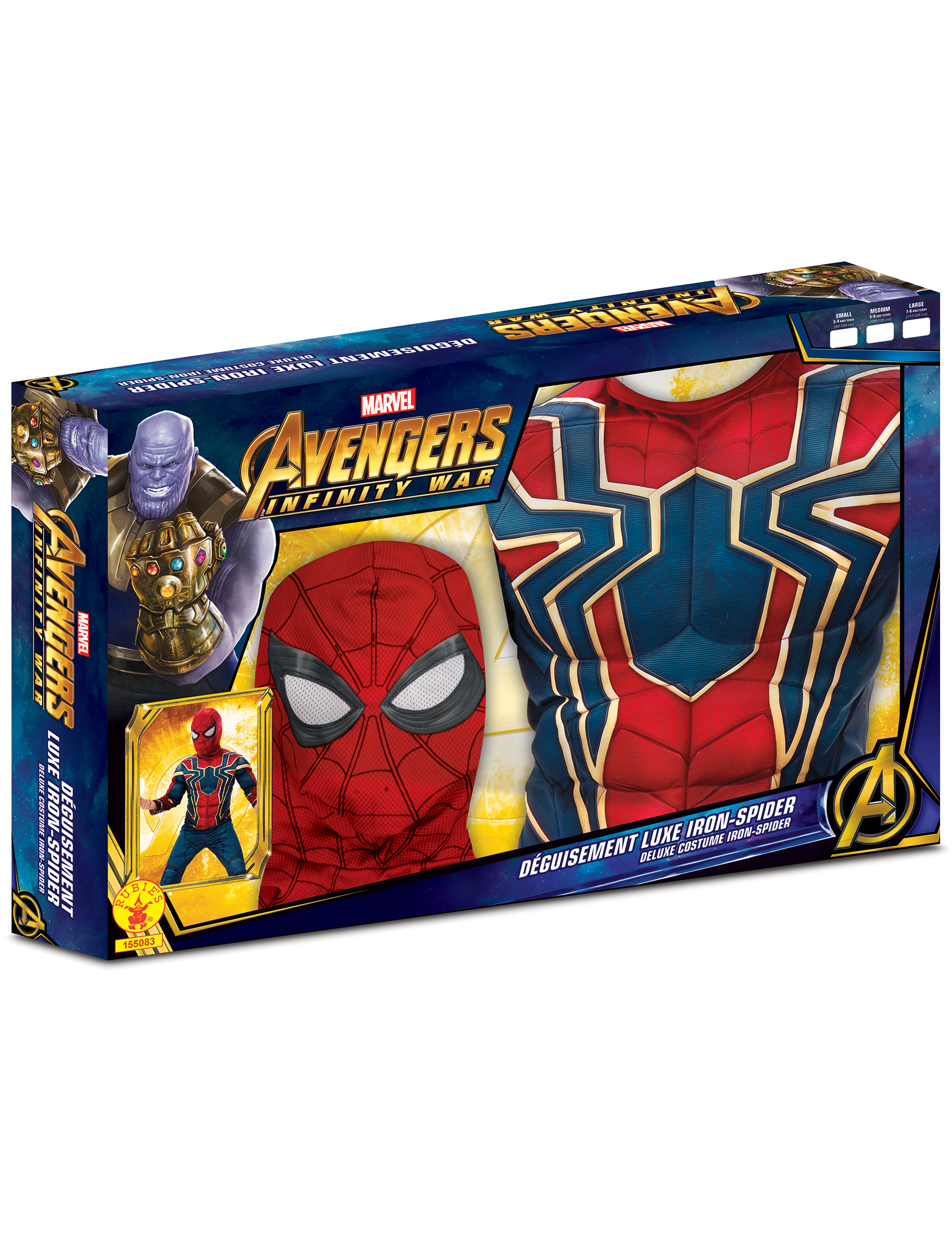 coffret luxe iron spider infinity war gar on deguise toi achat de d guisements enfants. Black Bedroom Furniture Sets. Home Design Ideas