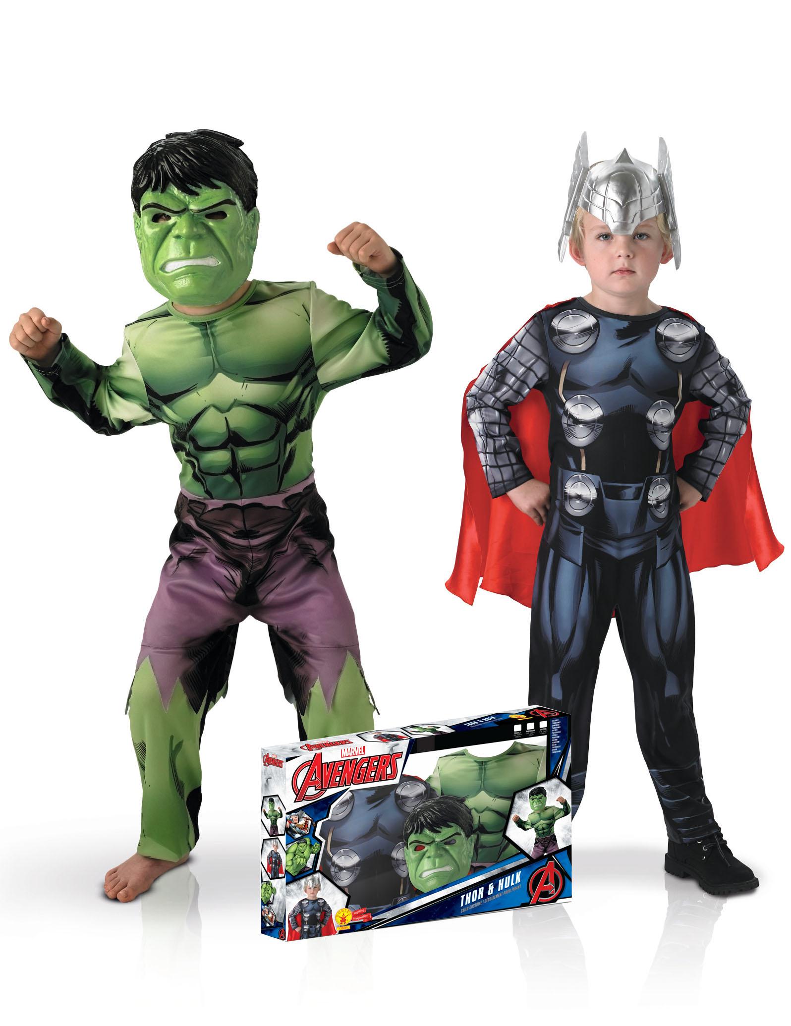 coffret d guisement duo classique hulk et thor gar on deguise toi achat de d guisements enfants. Black Bedroom Furniture Sets. Home Design Ideas