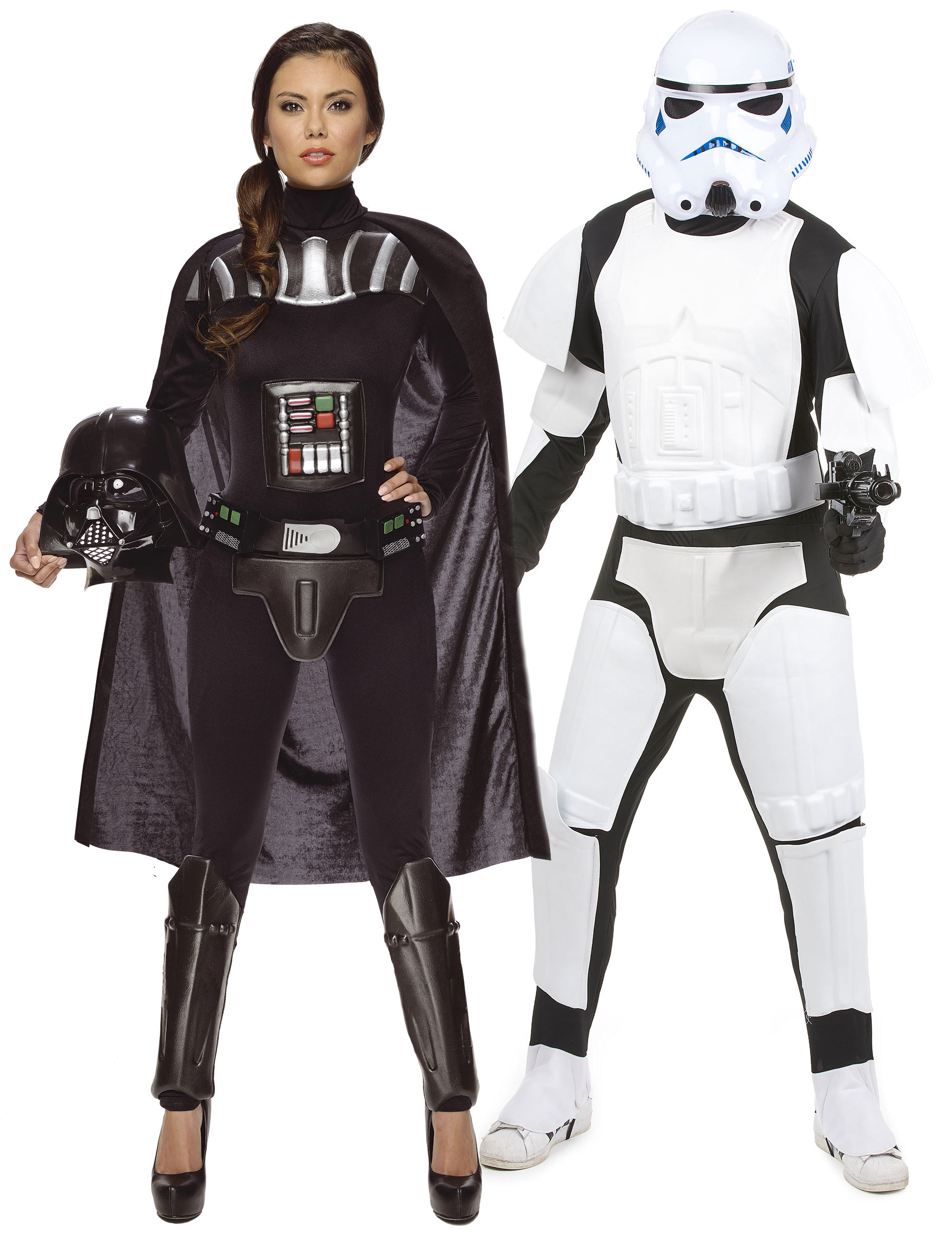 d guisement couple dark vador et stormtrooper star wars. Black Bedroom Furniture Sets. Home Design Ideas