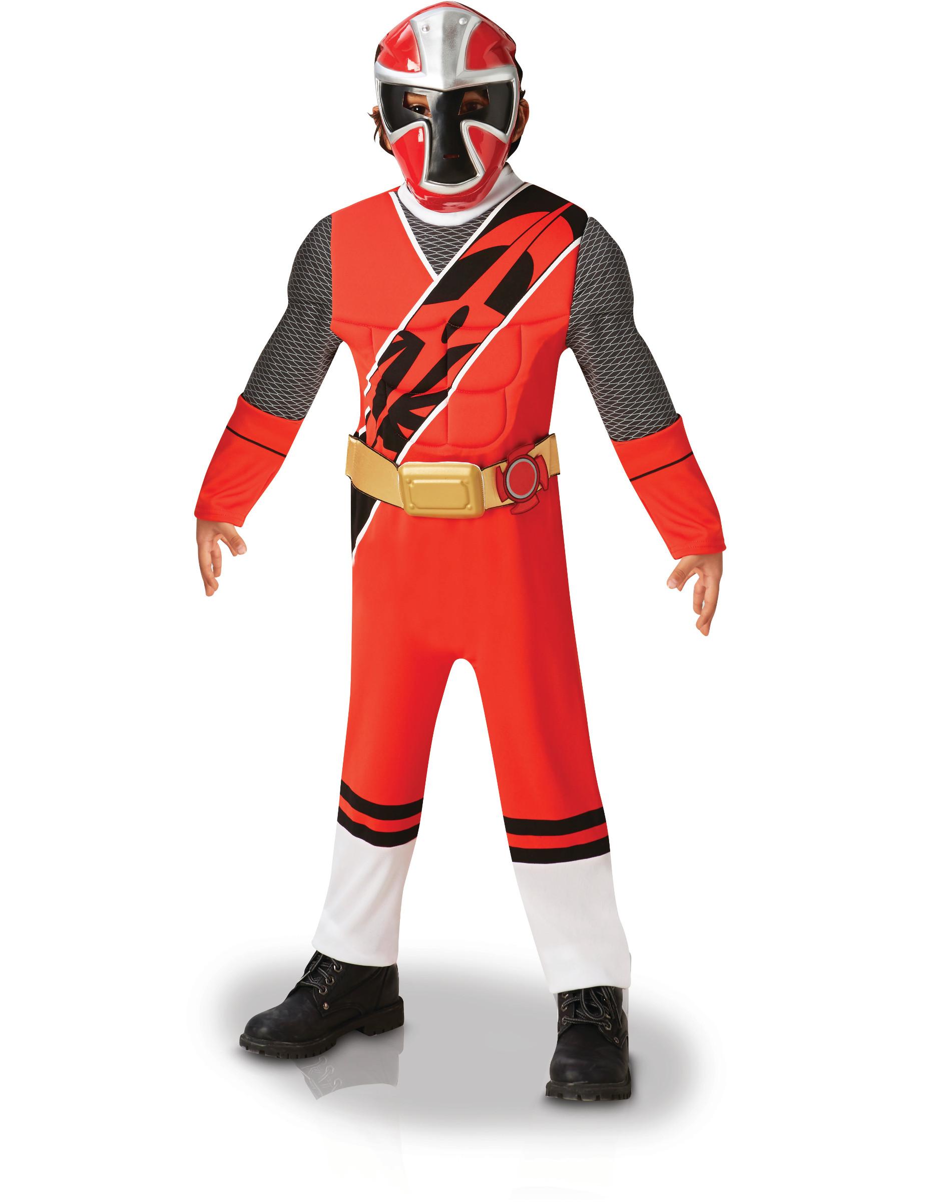 Déguisement Luxe Power Ranger Ninja Steel Rouge Enfant