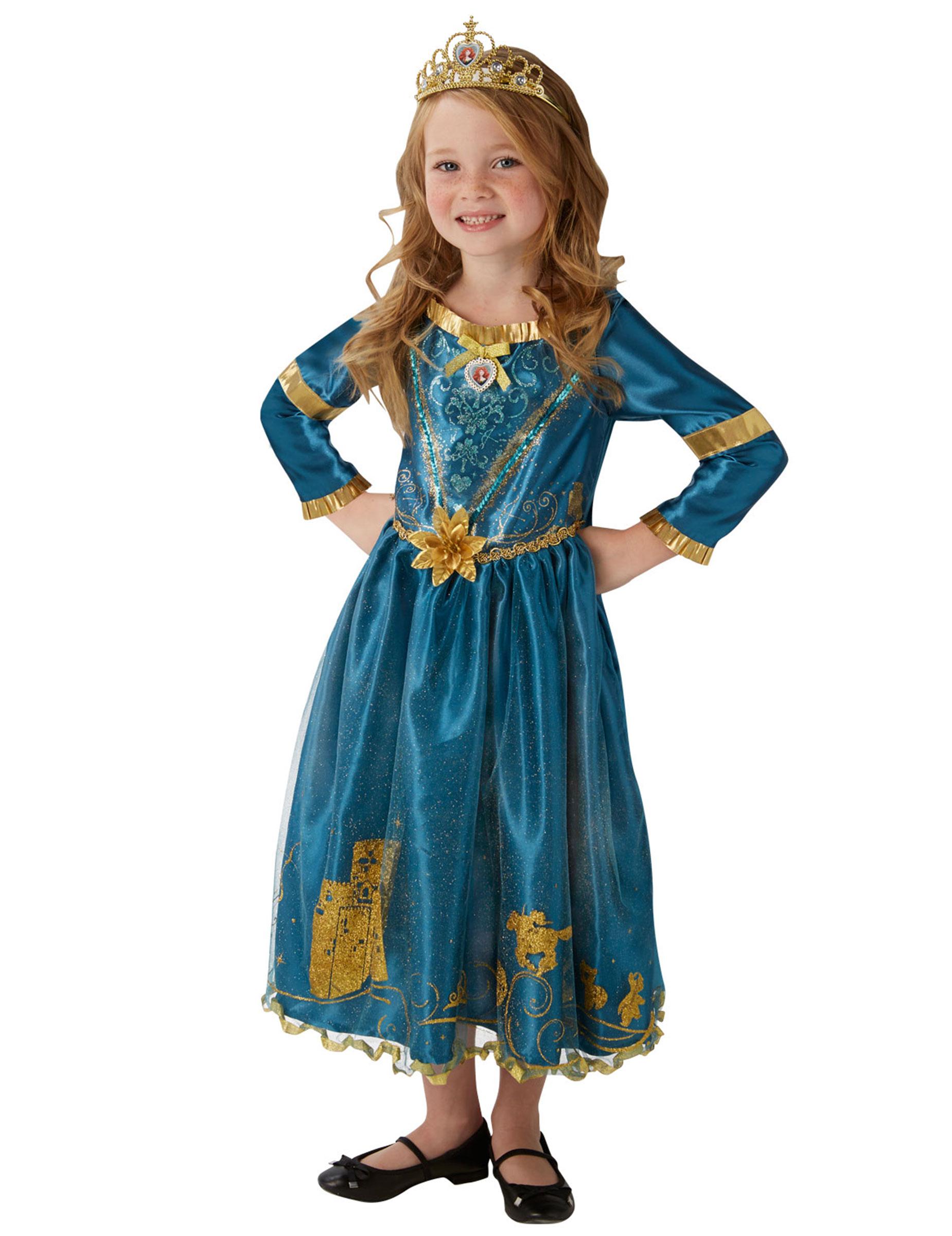 d guisement princesse merida rebelle avec couronne fille deguise toi achat de d guisements. Black Bedroom Furniture Sets. Home Design Ideas