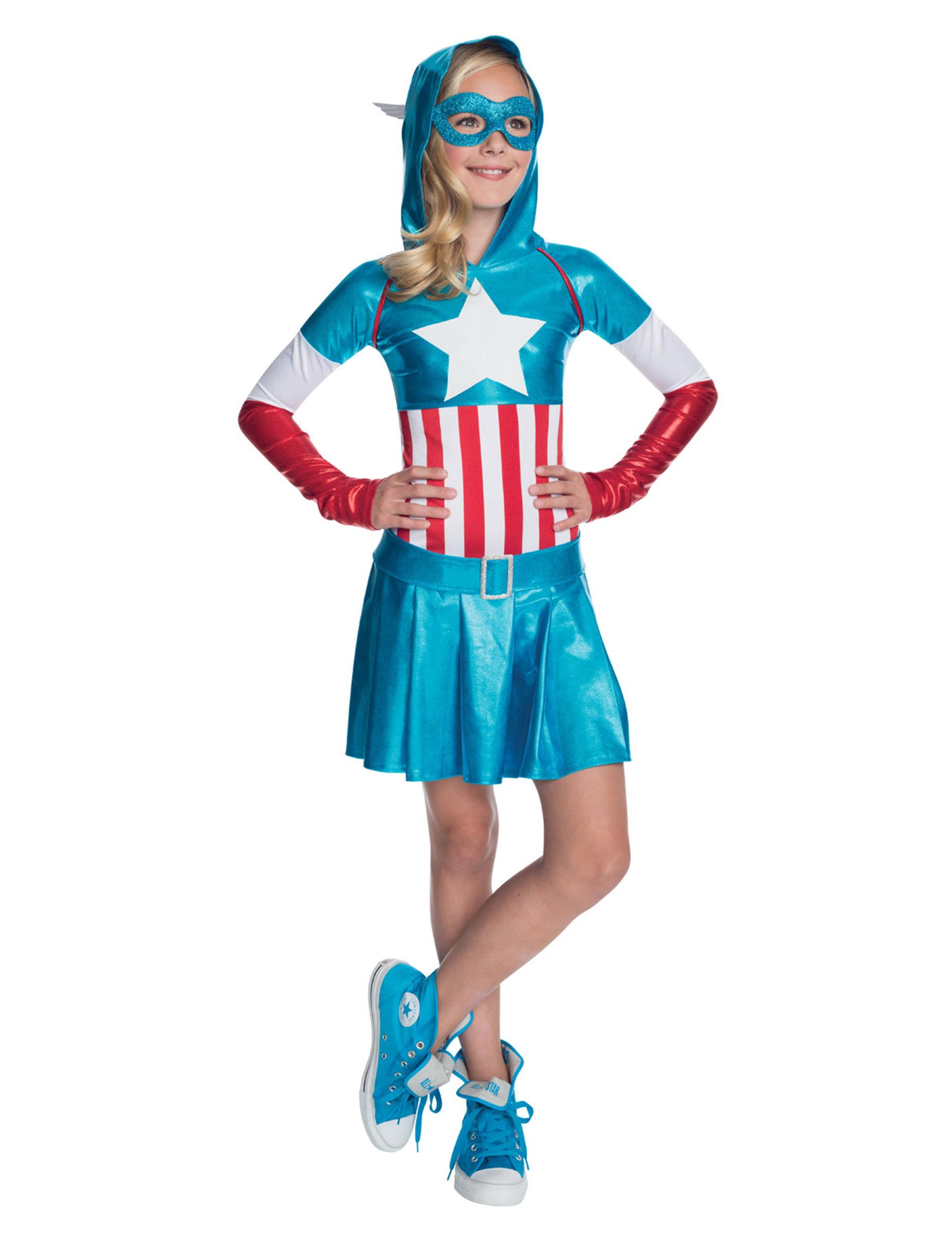 D guisement m tallique captain america fille deguise toi achat de d guisements enfants - Captain america fille ...