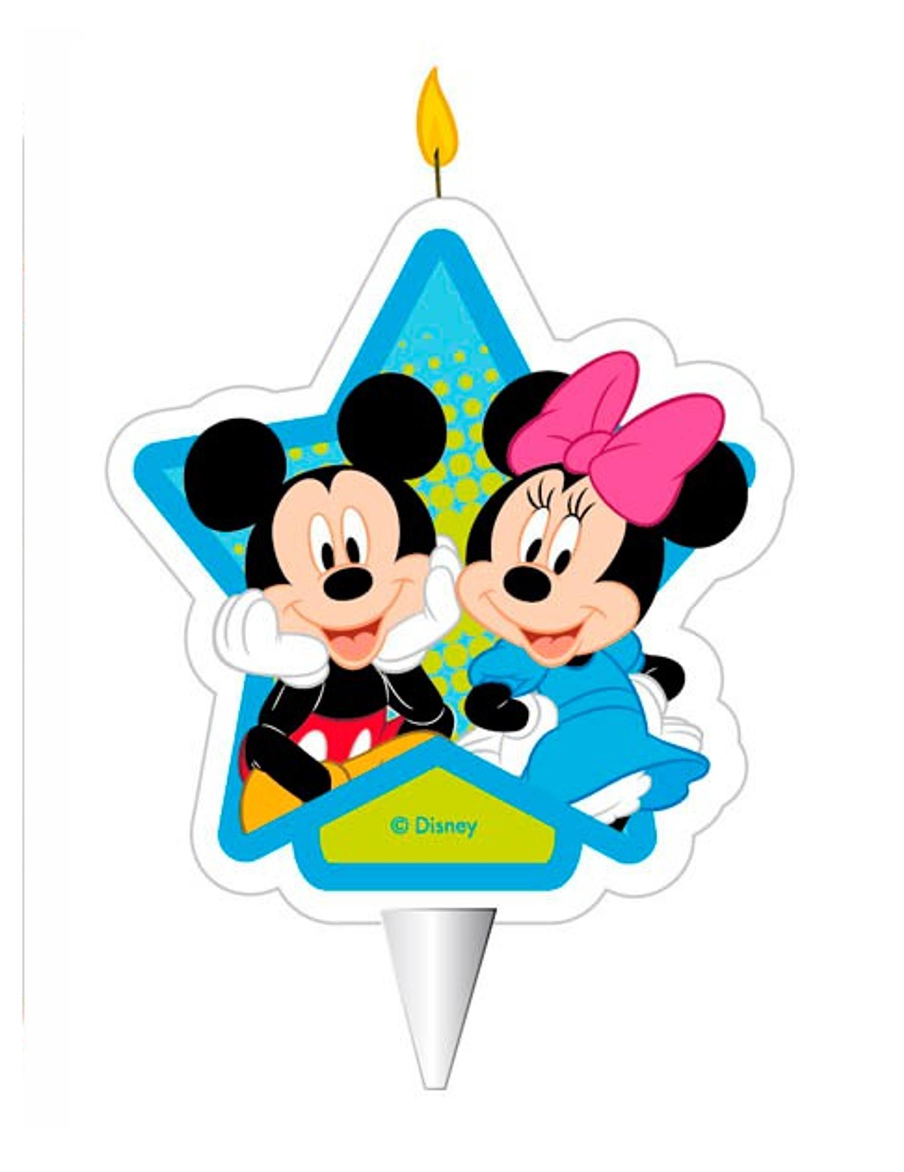 Bougie D Anniversaire Mickey Et Minnie 7 5 Cm Deguise Toi Achat