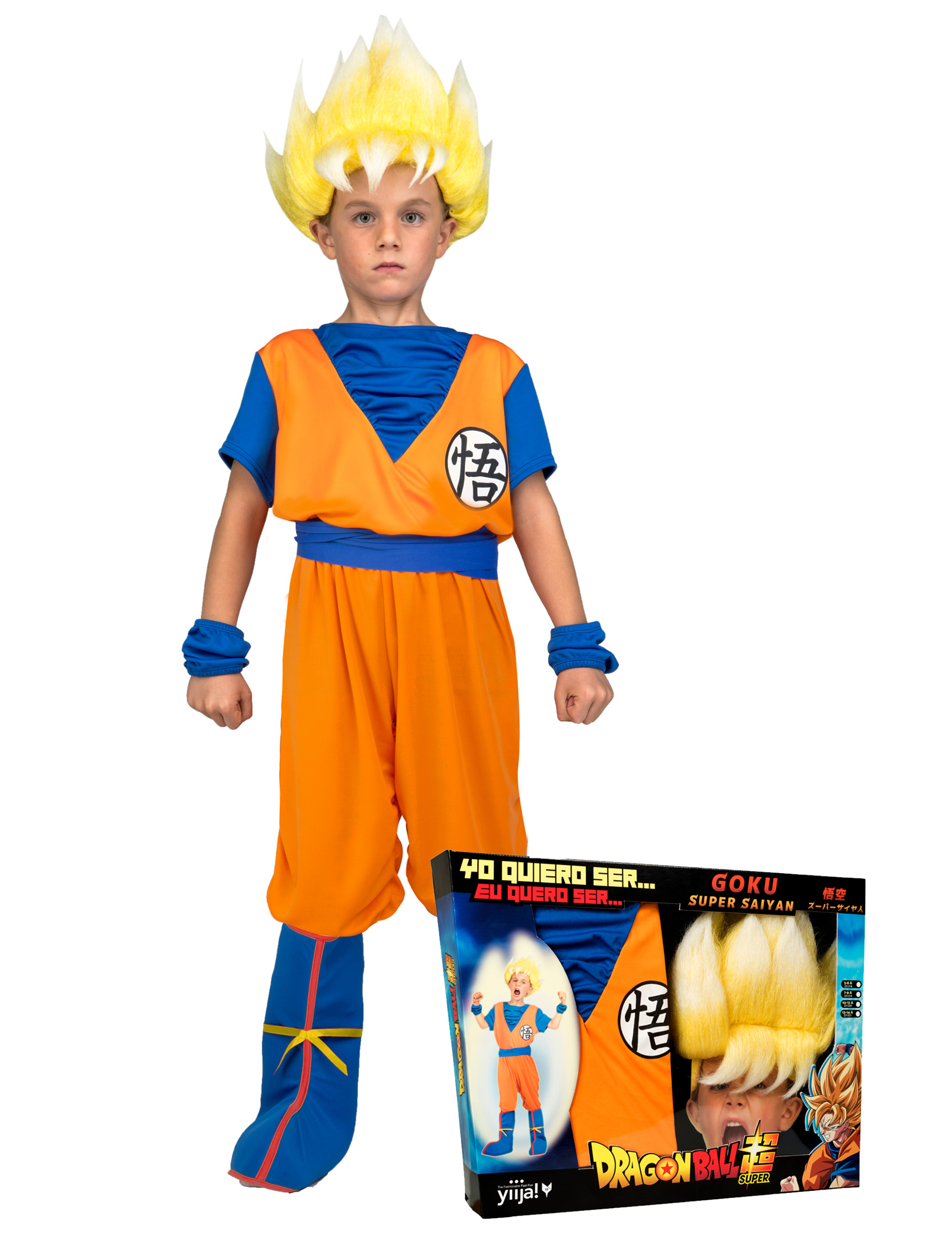 coffret d guisement super saiyan goku dragon ball enfant avec perruque deguise toi achat de. Black Bedroom Furniture Sets. Home Design Ideas
