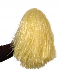 Pompon jaune paille métallique