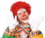 Perruque afro rouge de clown adulte