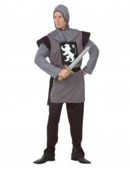 Déguisement chevalier médiéval gris homme