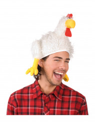 Chapeau de coq blanc