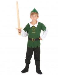 Déguisement garçon des bois noir et vert