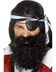 Barbe pirate noire adulte