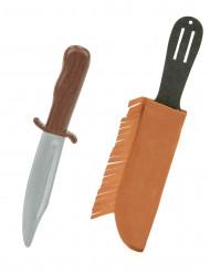 Couteau indien en plastique avec étui