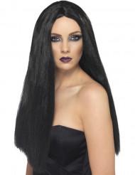 Perruque longue noire femme 60 cm