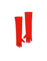 Gants longs rouges enfant