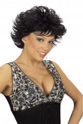 Perruque noire femme